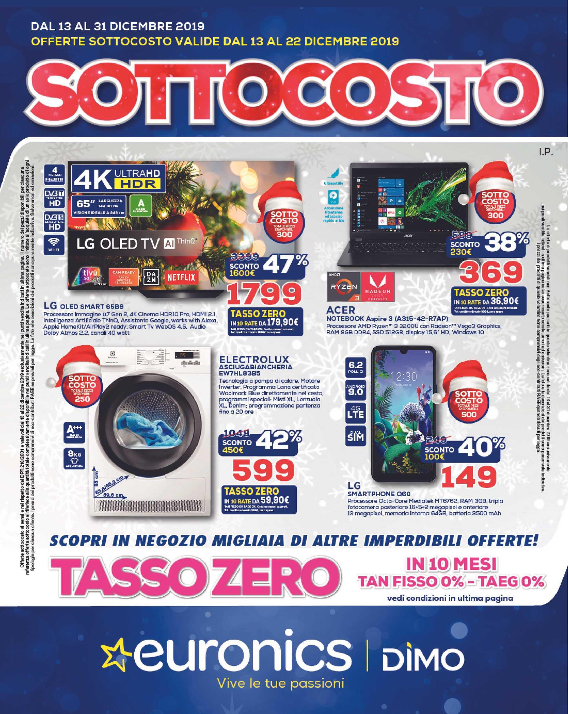 Euronics Bruno - offerte valide dal 12.12.2019 al 31.12.2019 - pagina 1.