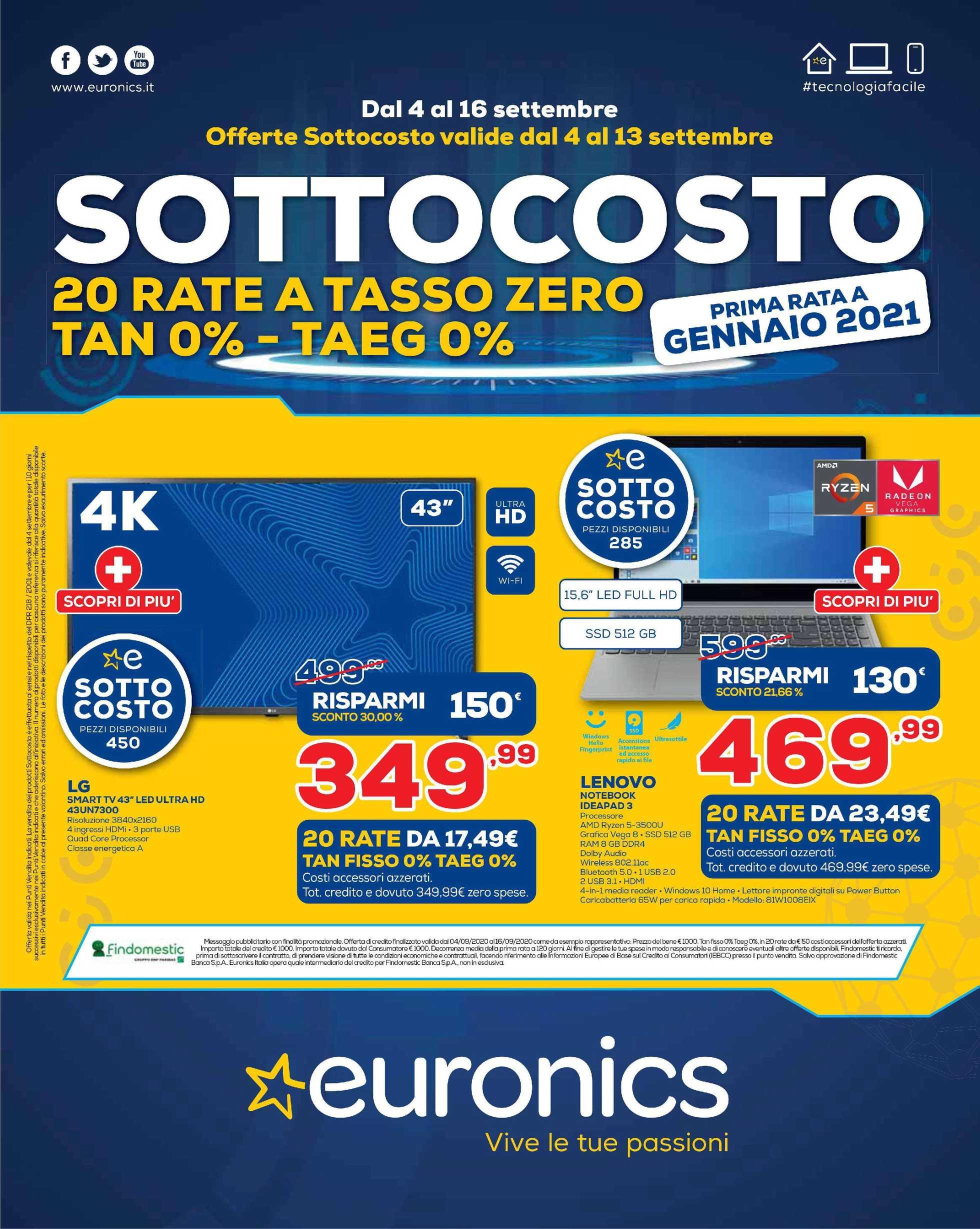 Euronics Bruno - offerte valide dal 04.09.2020 al 16.09.2020 - pagina 1.