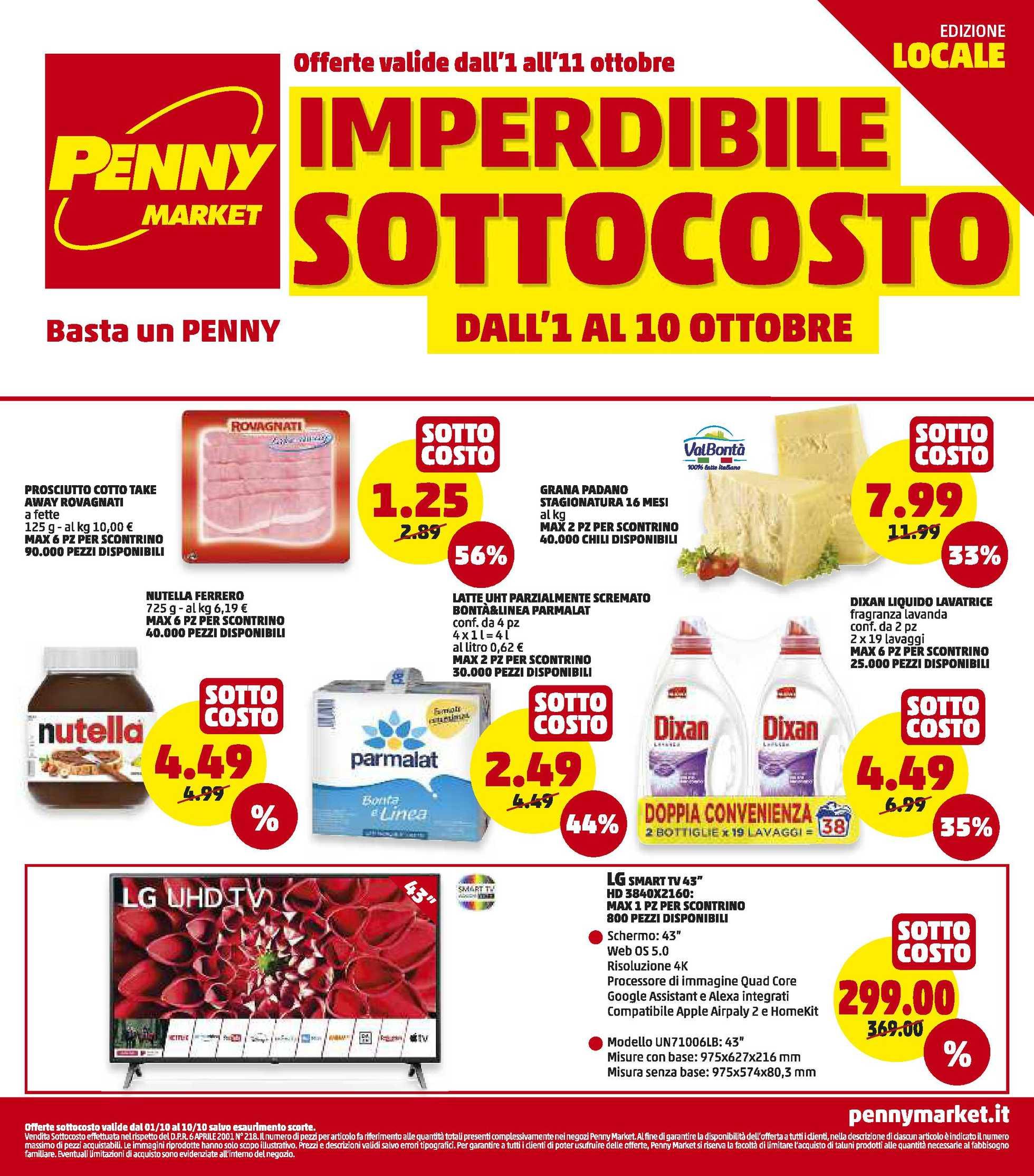 Penny Market - offerte valide dal 01.10.2020 al 11.10.2020 - pagina 1.