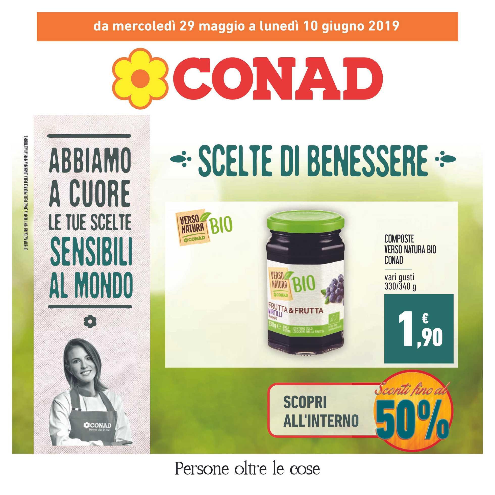 Conad - offerte valide dal 29.05.2019 al 10.06.2019 - pagina 1.