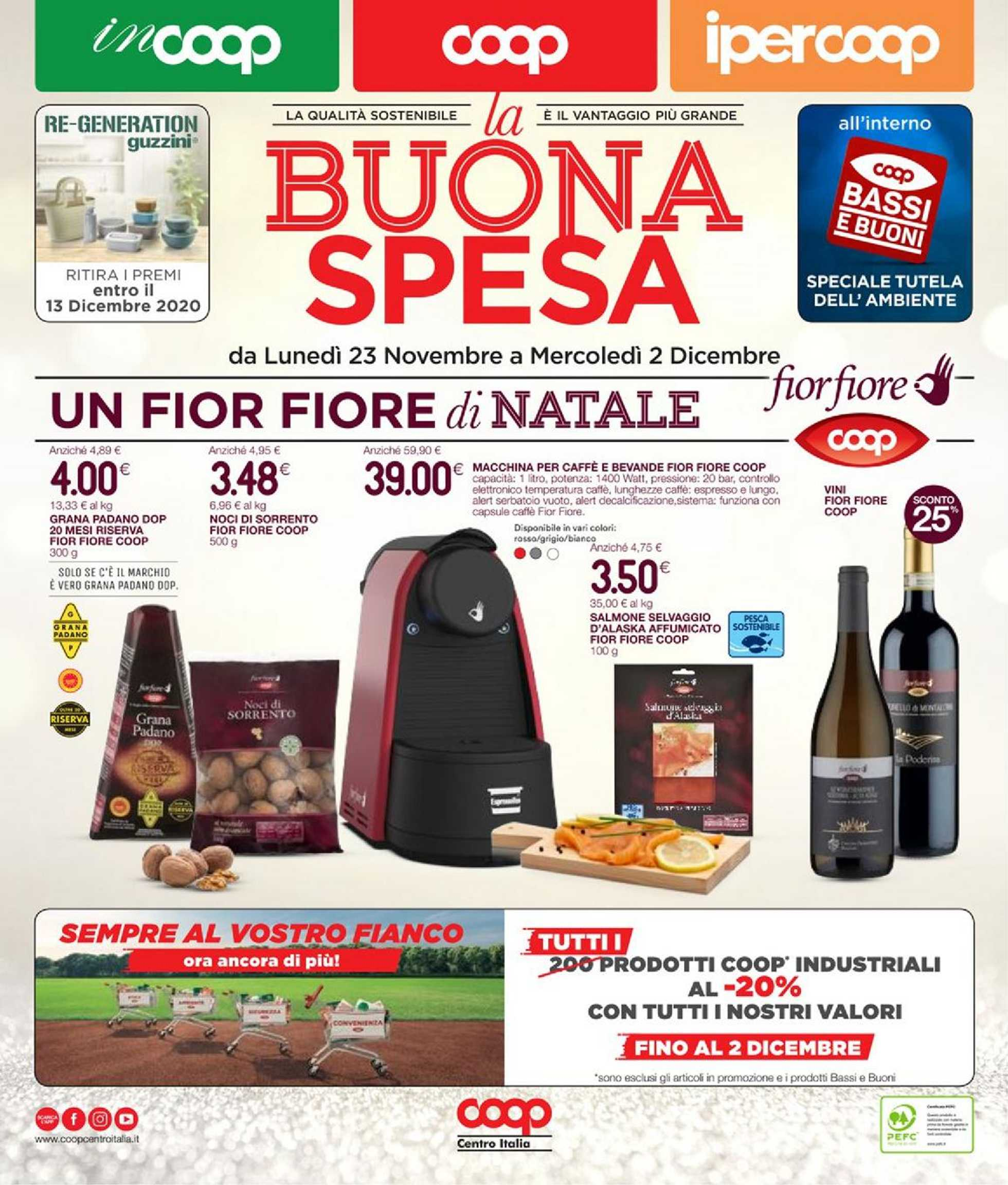 Coop Centro Italia - offerte valide dal 23.11.2020 al 02.12.2020 - pagina 1.