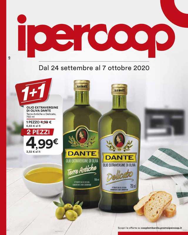 Ipercoop (Coop Alleanza) - offerte valide dal 24.09.2020 al 07.10.2020 - pagina 1.