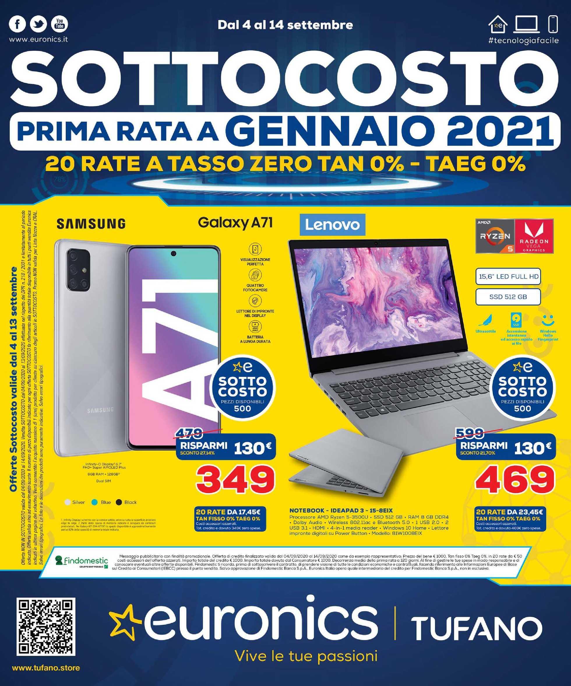 Euronics Bruno - offerte valide dal 04.09.2020 al 14.09.2020 - pagina 1.
