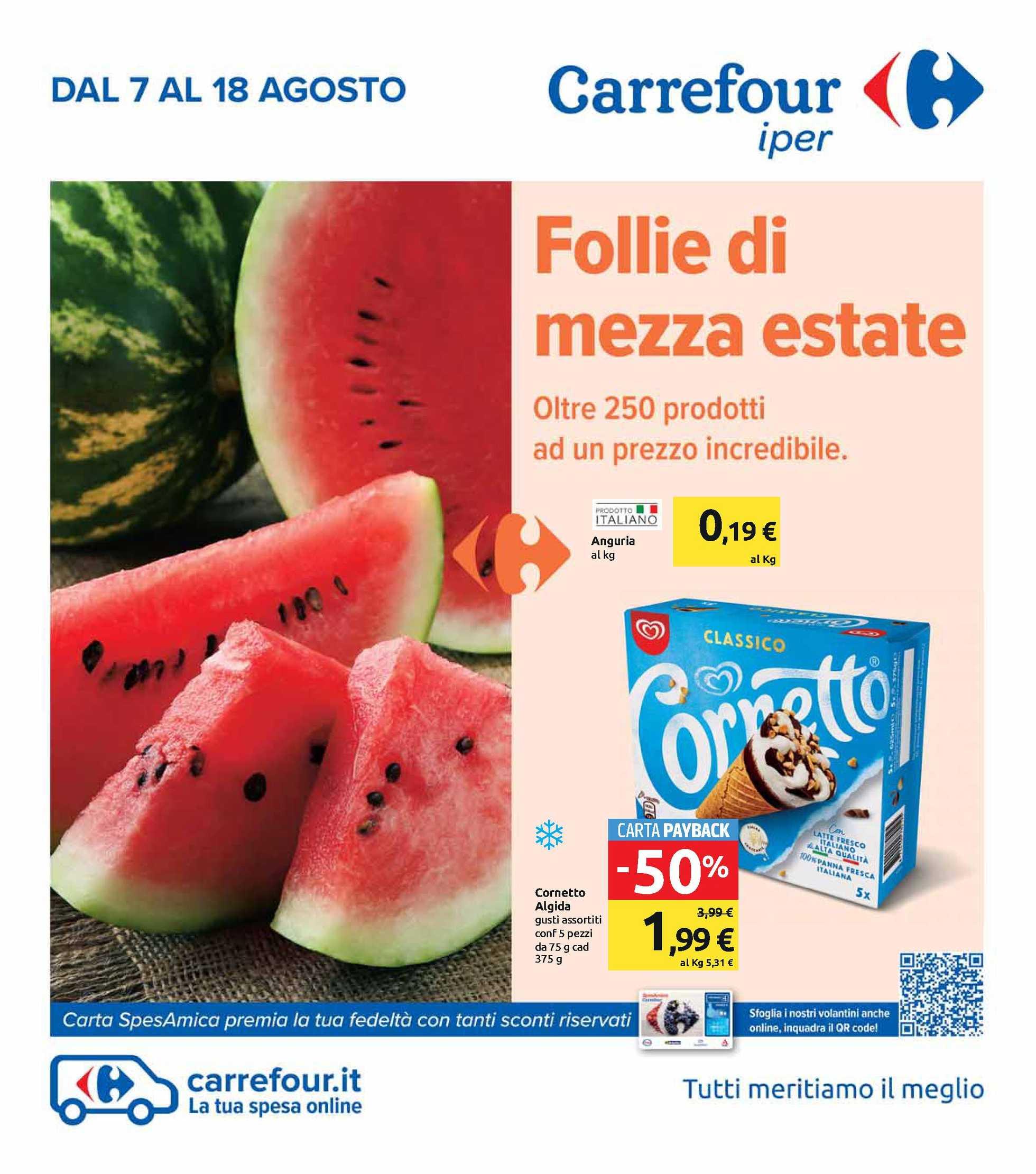 Carrefour Iper - offerte valide dal 07.08.2020 al 18.08.2020 - pagina 1.