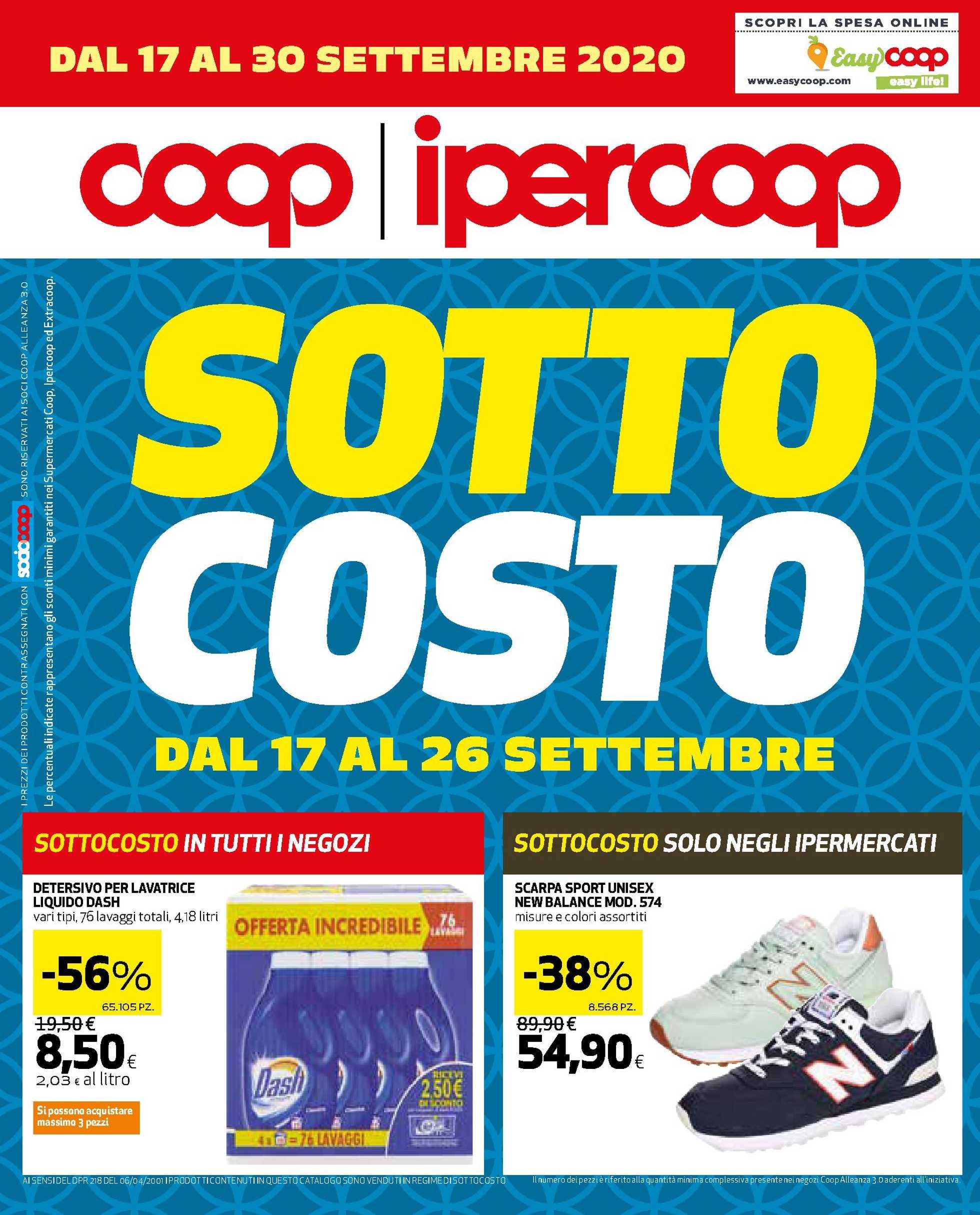 Ipercoop (Coop Alleanza) - offerte valide dal 17.09.2020 al 30.09.2020 - pagina 1.