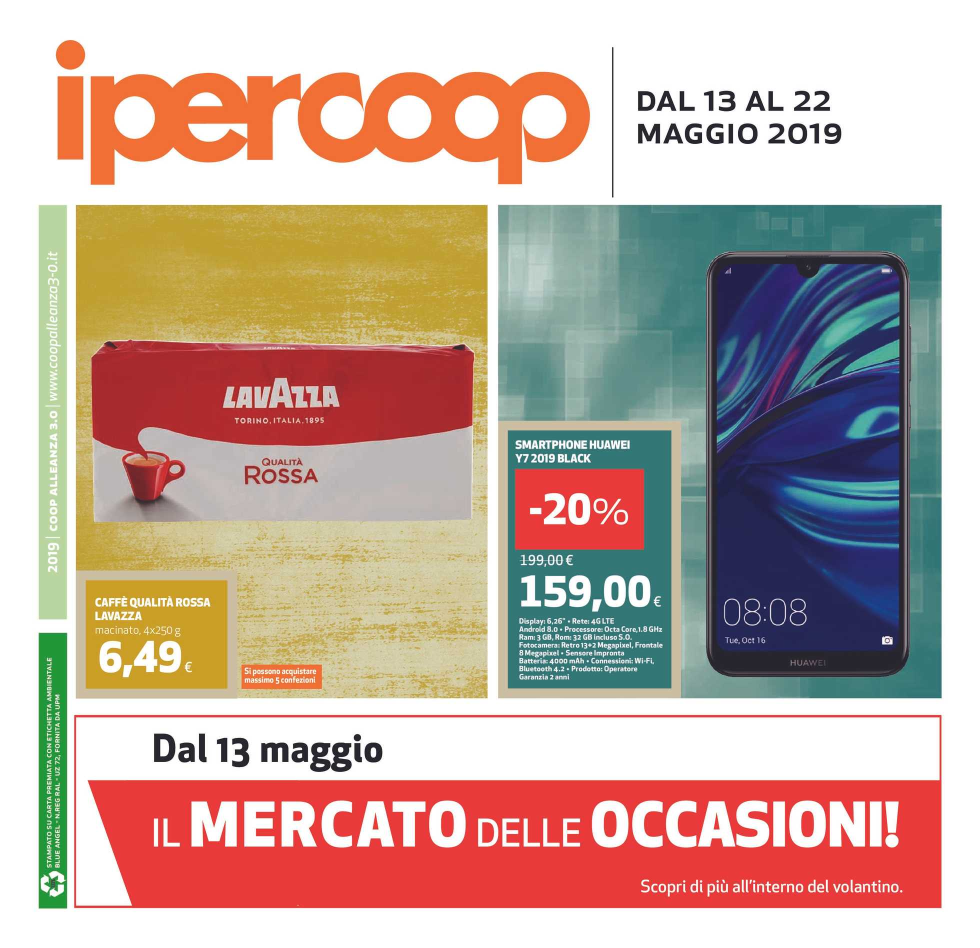 Ipercoop (Coop Alleanza) - offerte valide dal 13.05.2019 al 22.05.2019 - pagina 1.