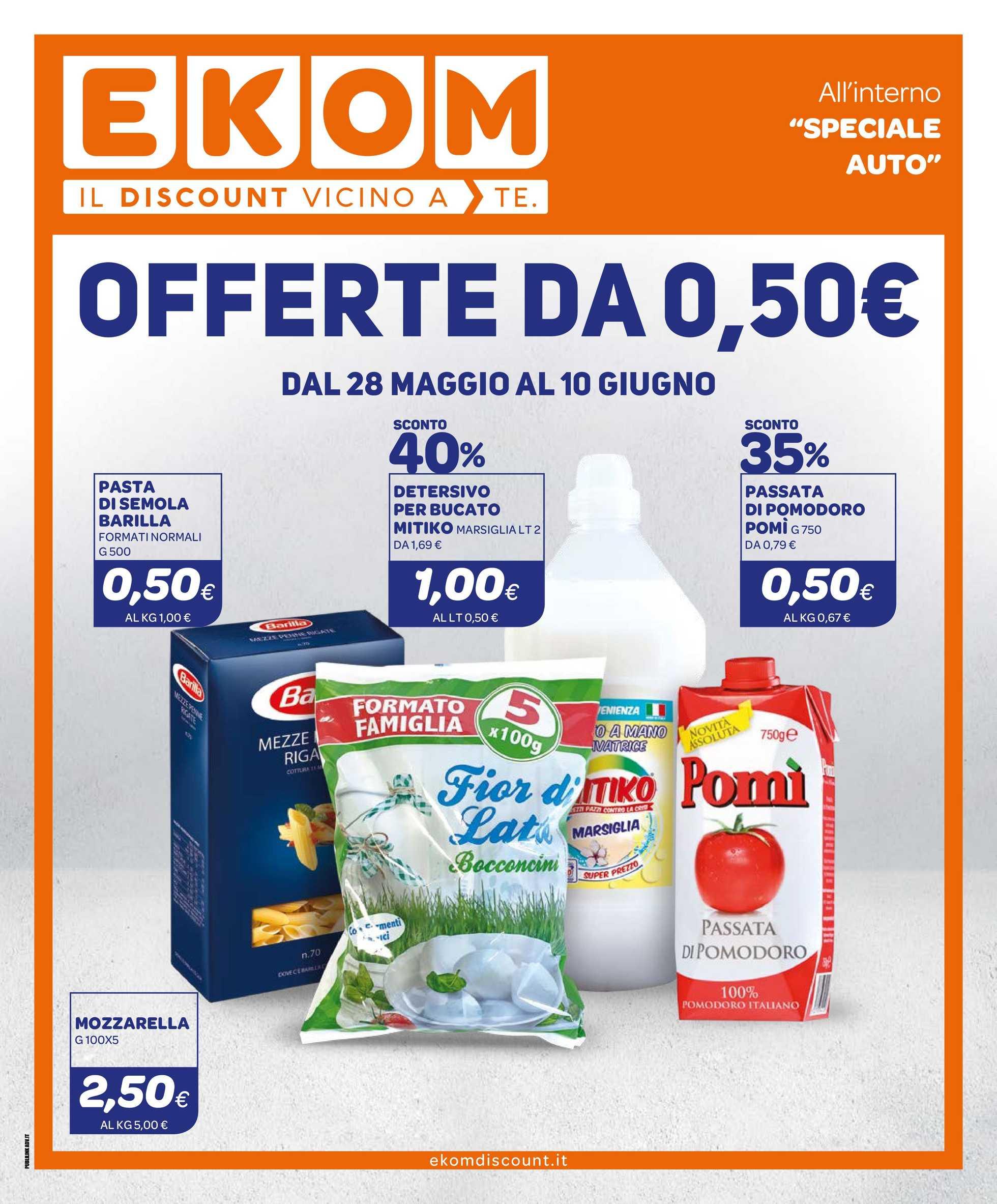 Ekom - offerte valide dal 28.05.2019 al 10.06.2019 - pagina 1.