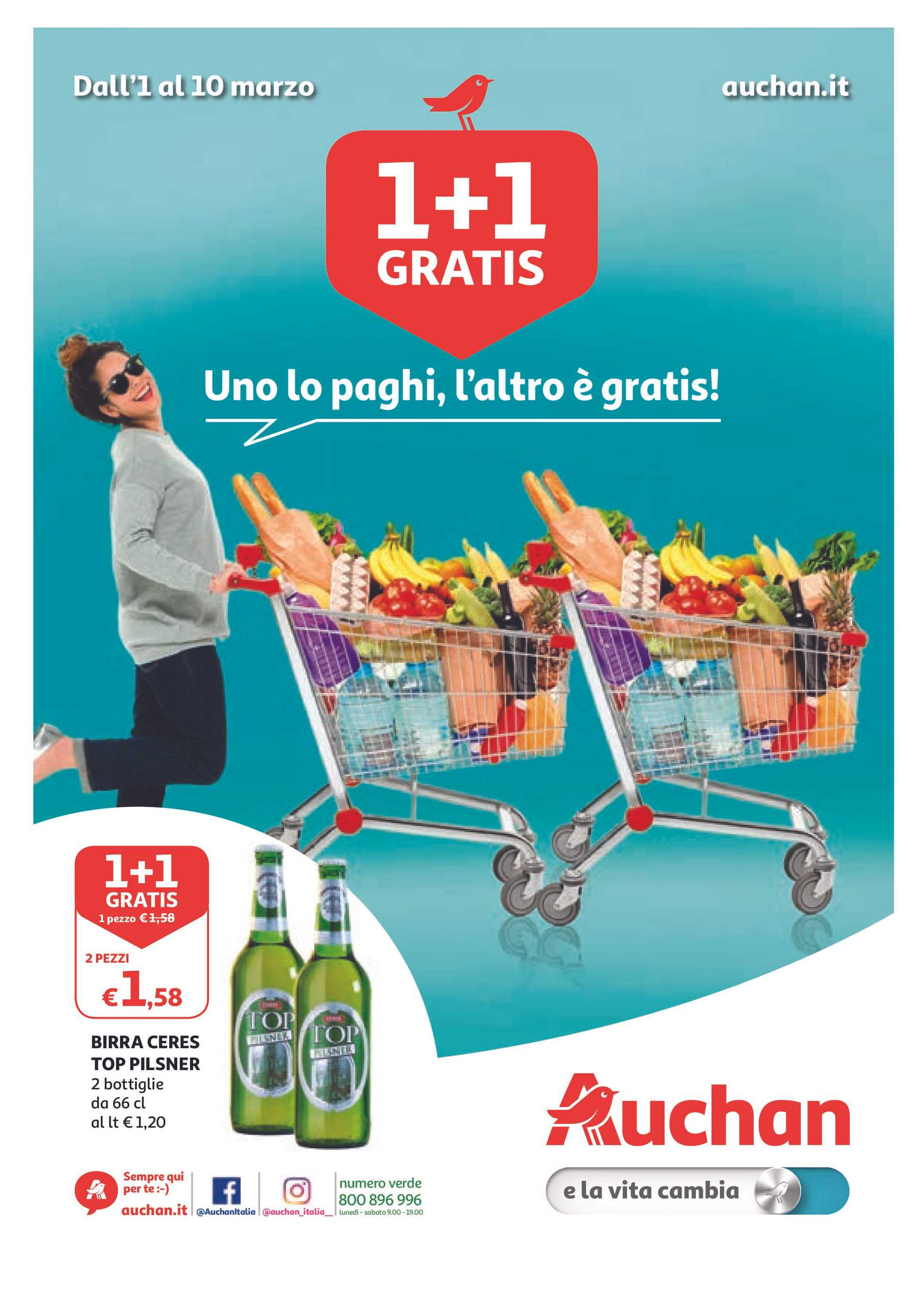 Auchan - offerte valide dal 01.03.2019 al 10.03.2019 - pagina 1.