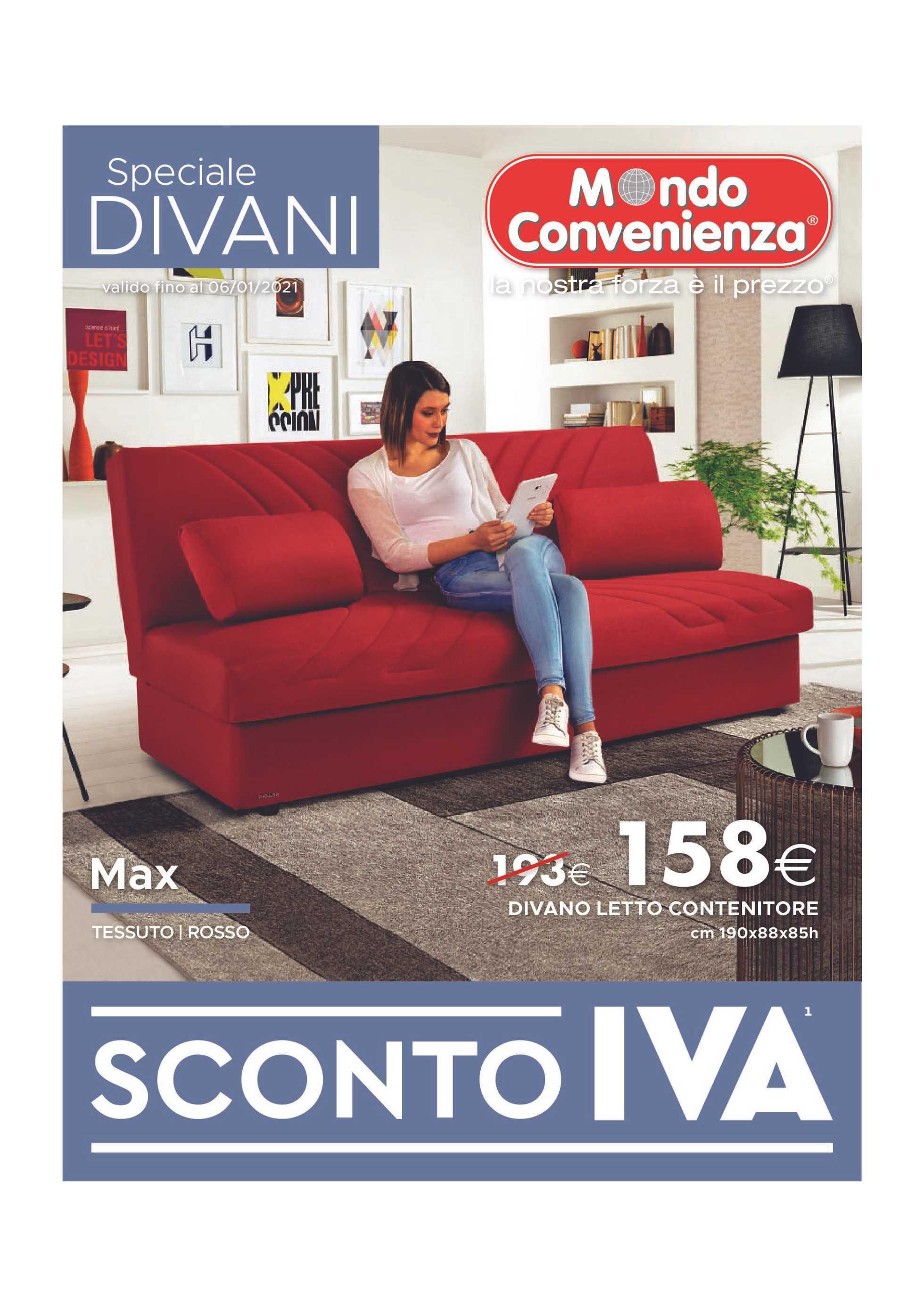 Mondo Convenienza - offerte valide dal 20.04.2020 al 06.01.2021 - pagina 1.