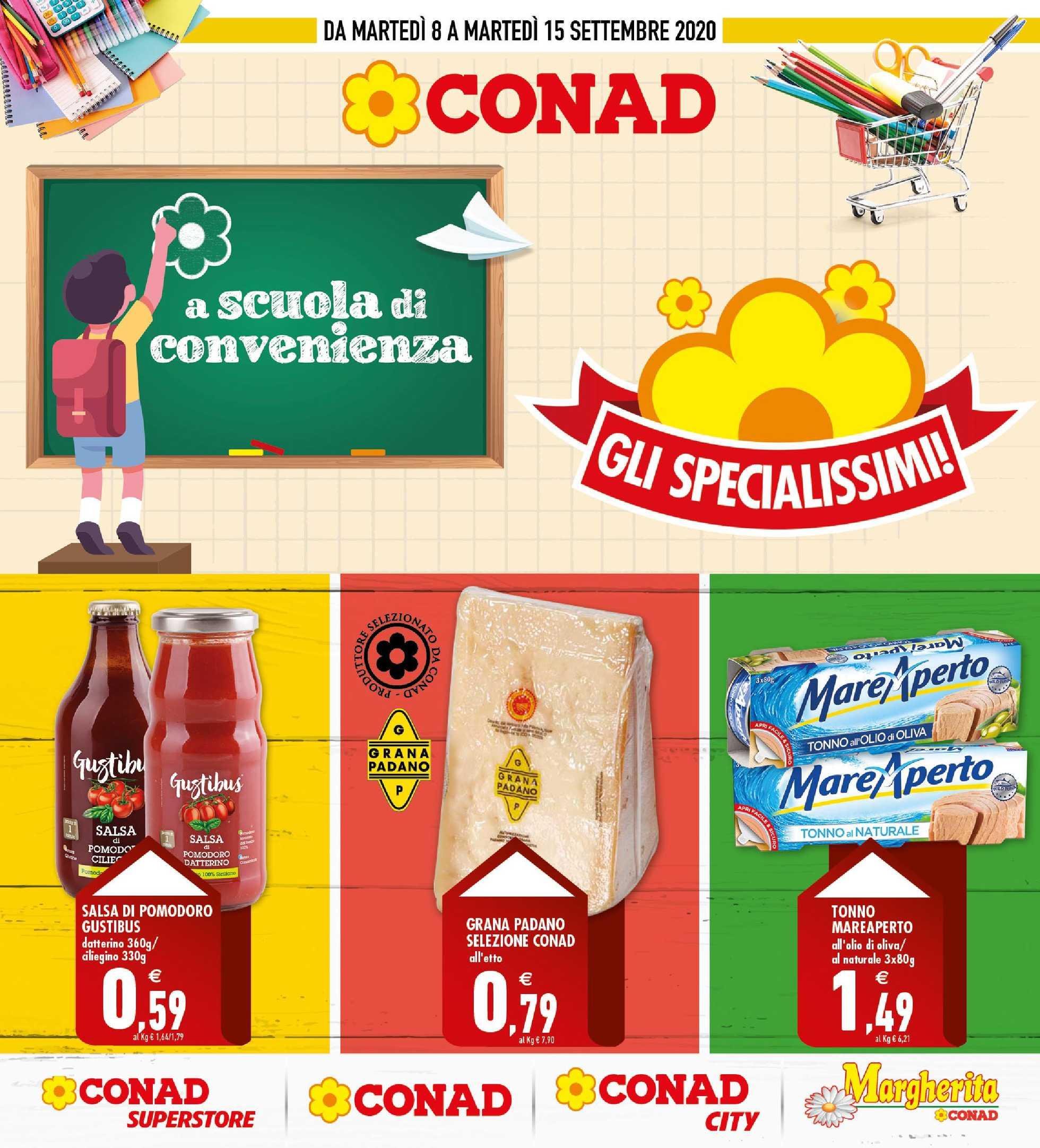 Conad - offerte valide dal 08.09.2020 al 15.09.2020 - pagina 1.