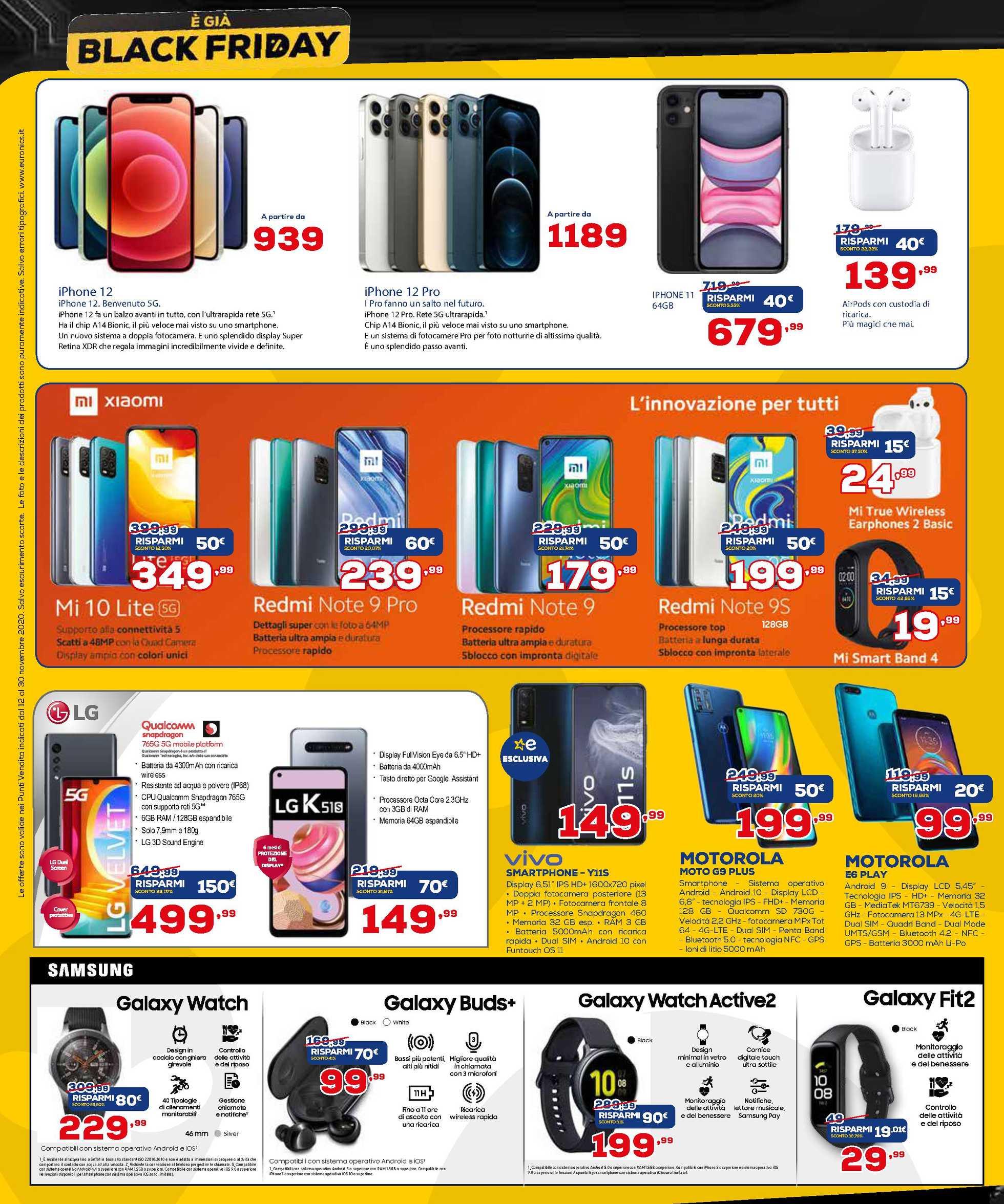 Euronics La Via Lattea - offerte valide dal 12.11.2020 al 30.11.2020 - pagina 4.