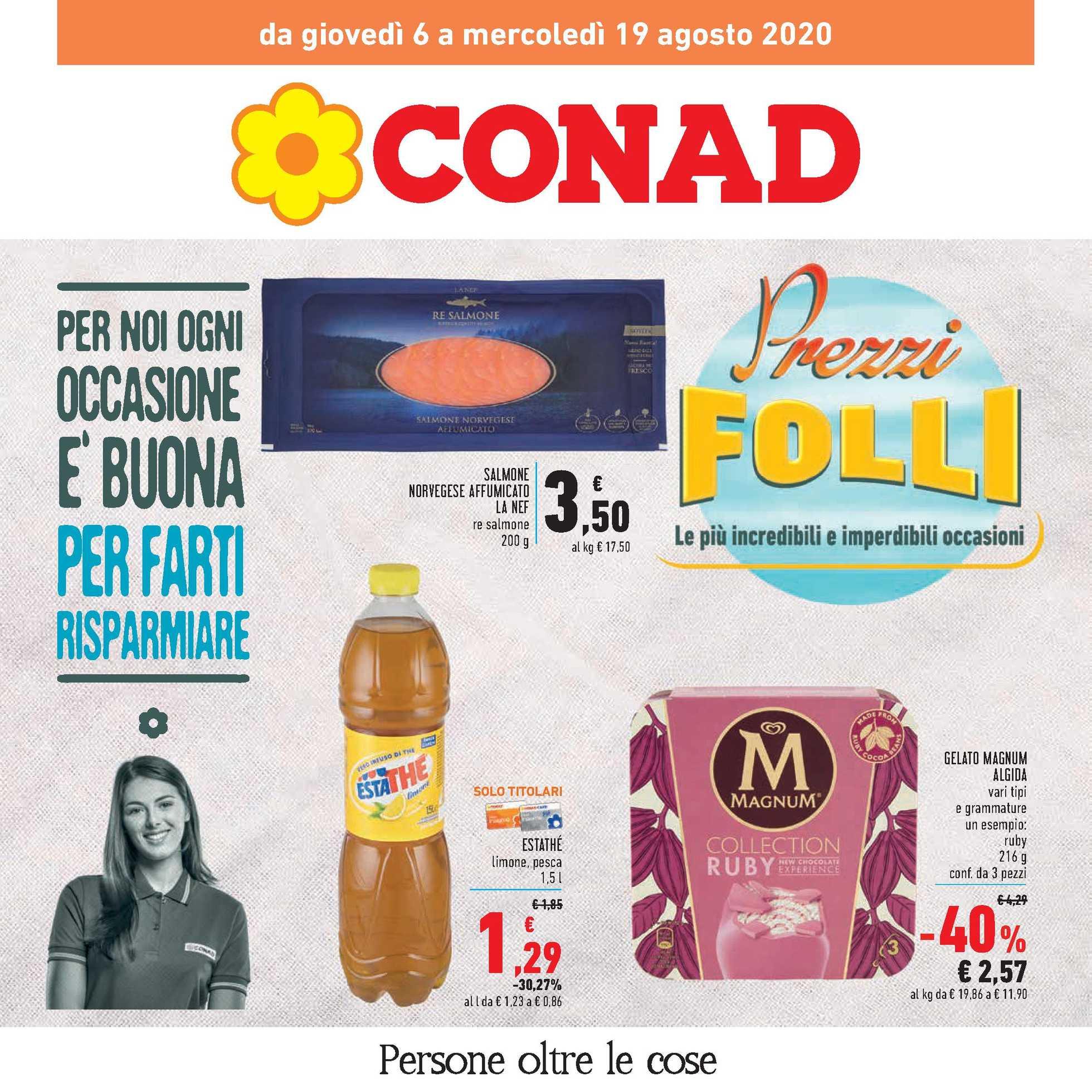 Conad - offerte valide dal 06.08.2020 al 19.08.2020 - pagina 1.