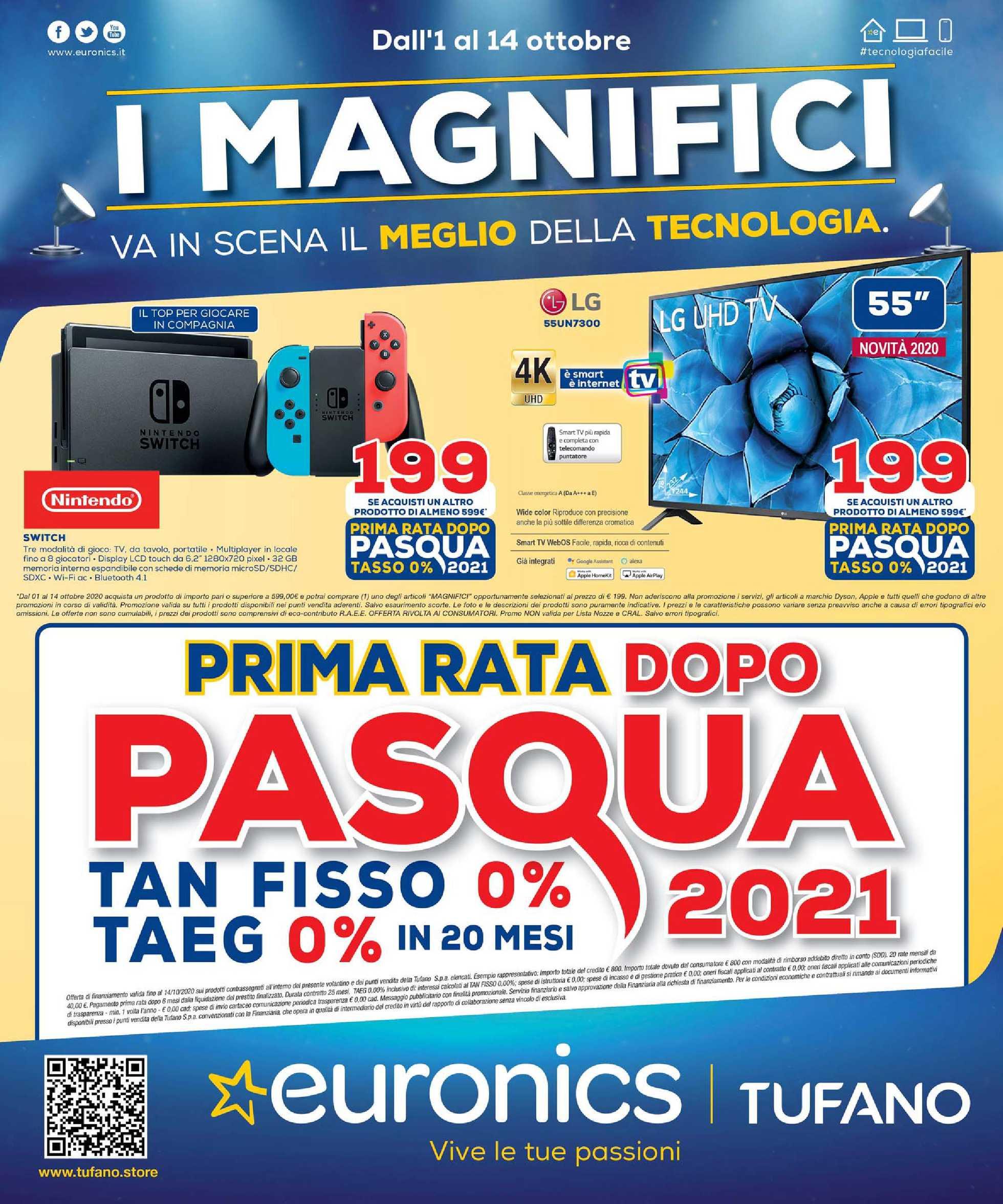 Euronics Bruno - offerte valide dal 01.10.2020 al 14.10.2020 - pagina 1.