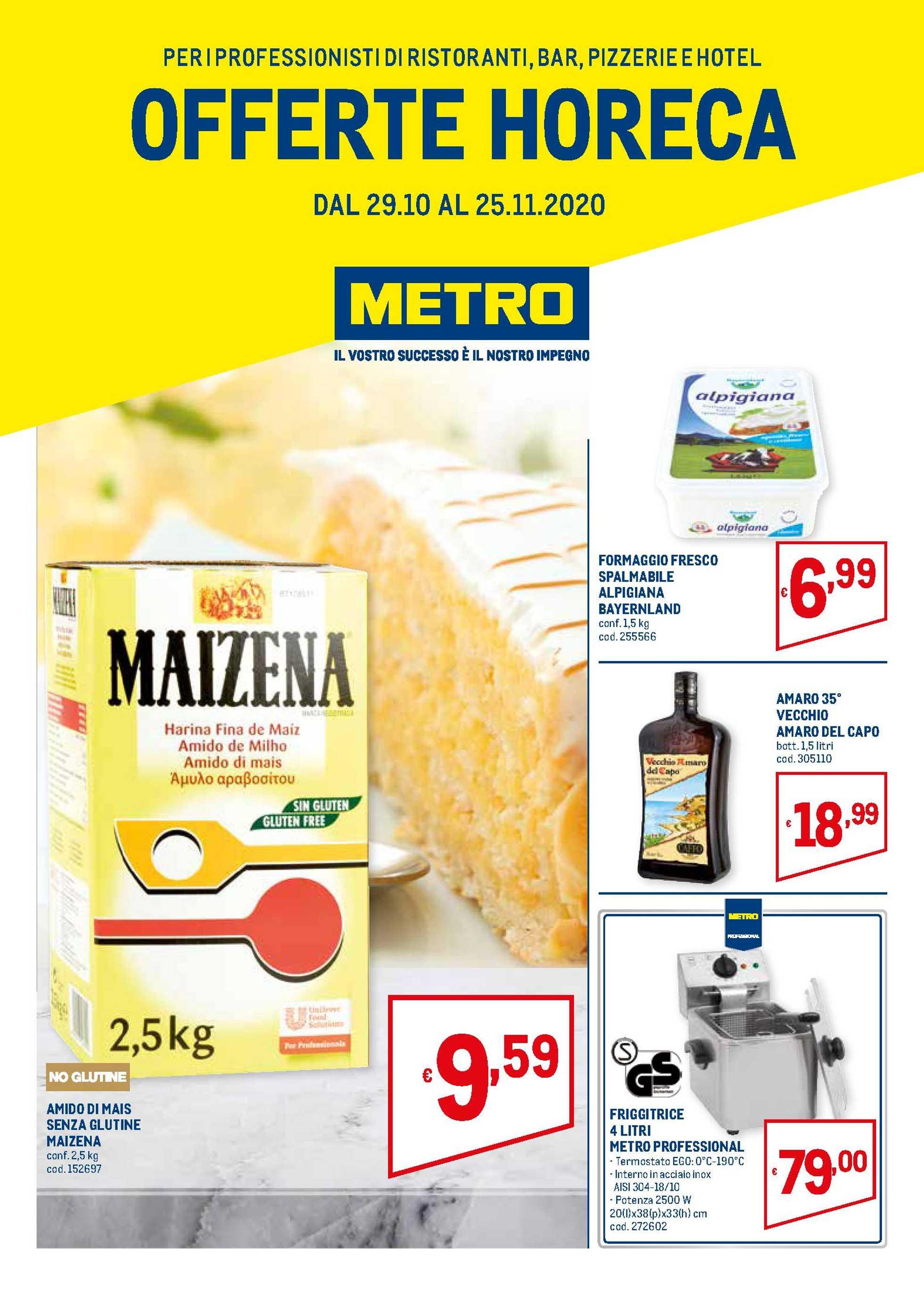 Metro - offerte valide dal 29.10.2020 al 25.11.2020 - pagina 1.