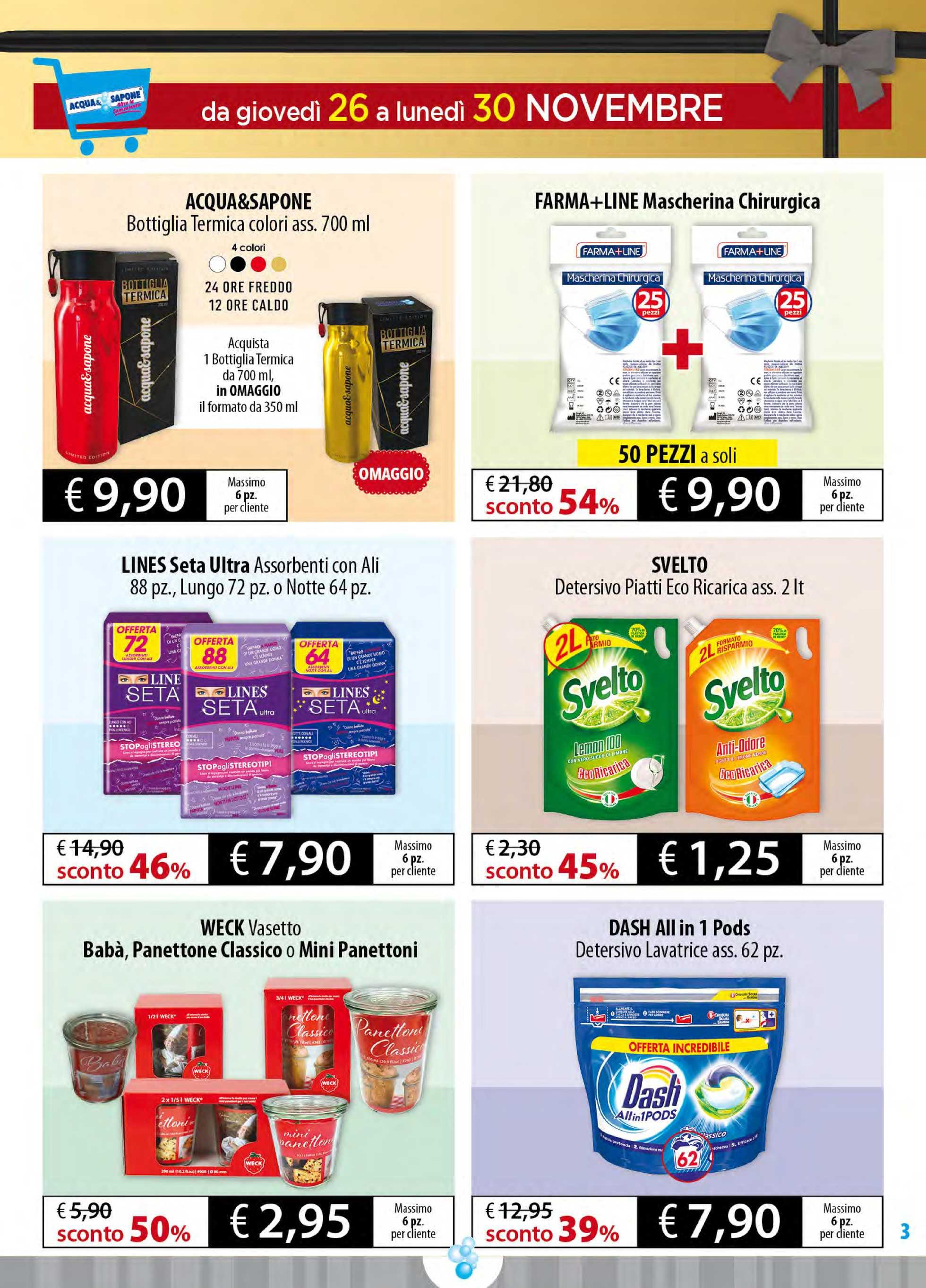 Acqua & Sapone - offerte valide dal 17.11.2020 al 29.12.2020 - pagina 3.