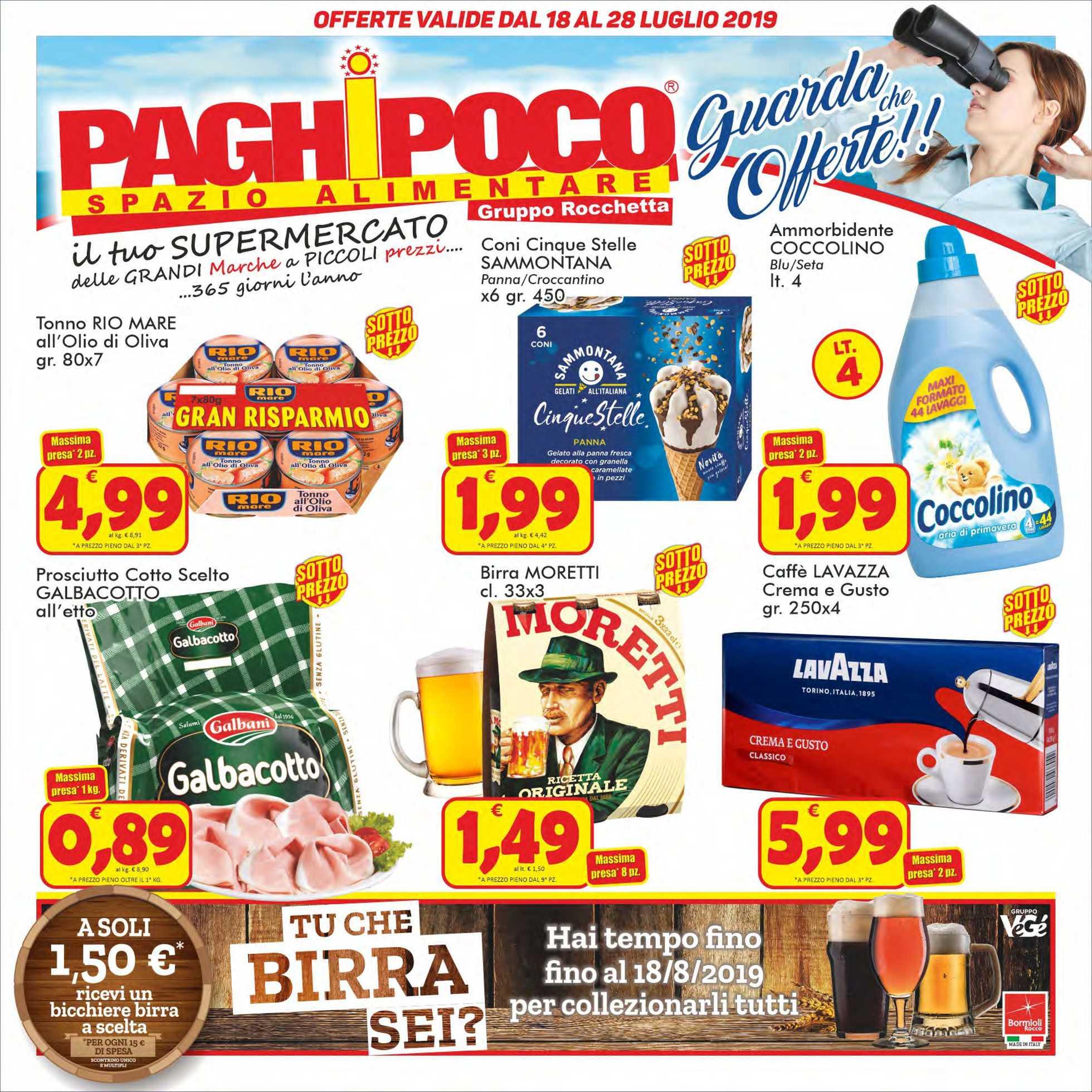 Paghi Poco - offerte valide dal 18.07.2019 al 28.07.2019 - pagina 1.
