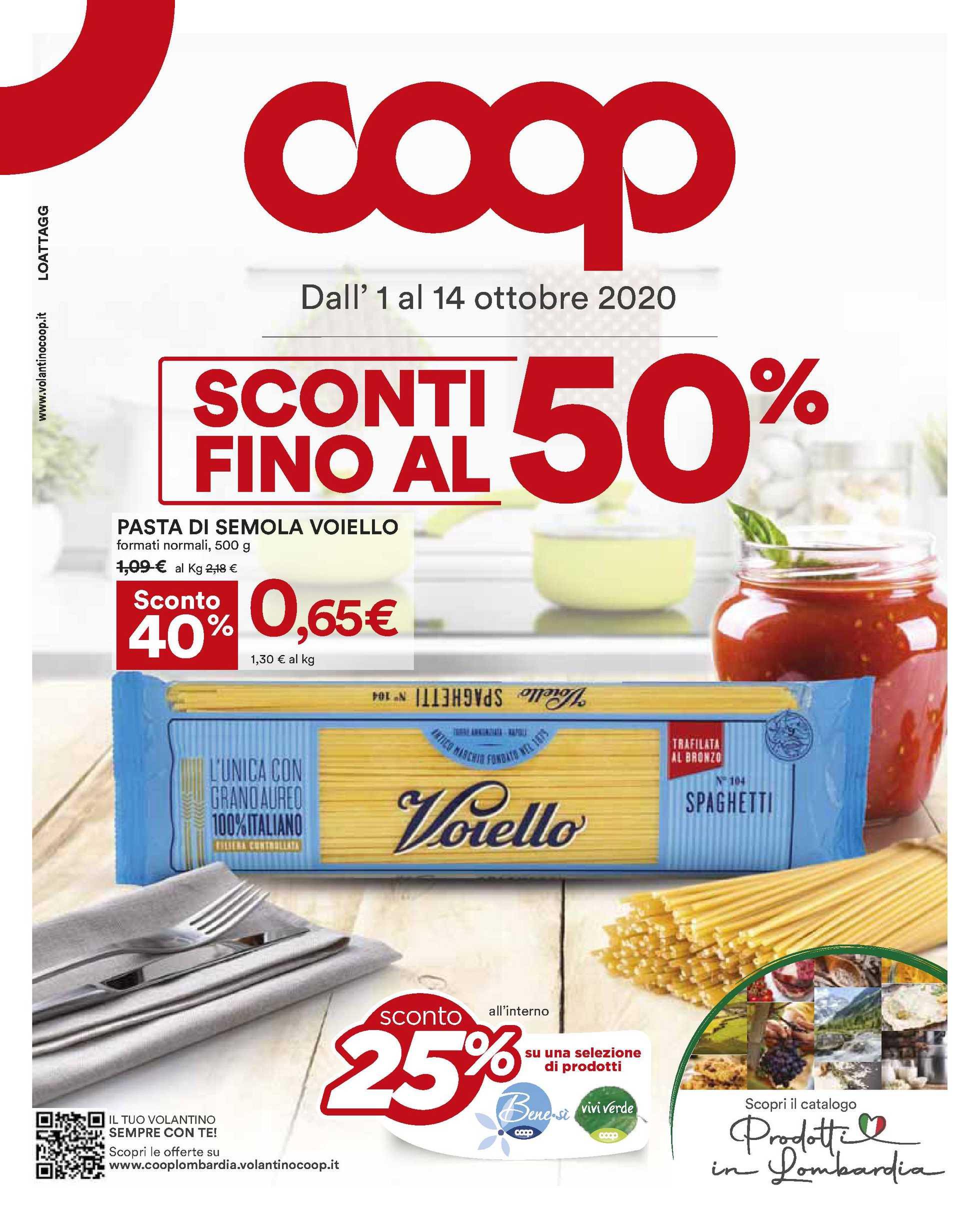 Coop Alleanza 3.0 - offerte valide dal 01.10.2020 al 14.10.2020 - pagina 1.