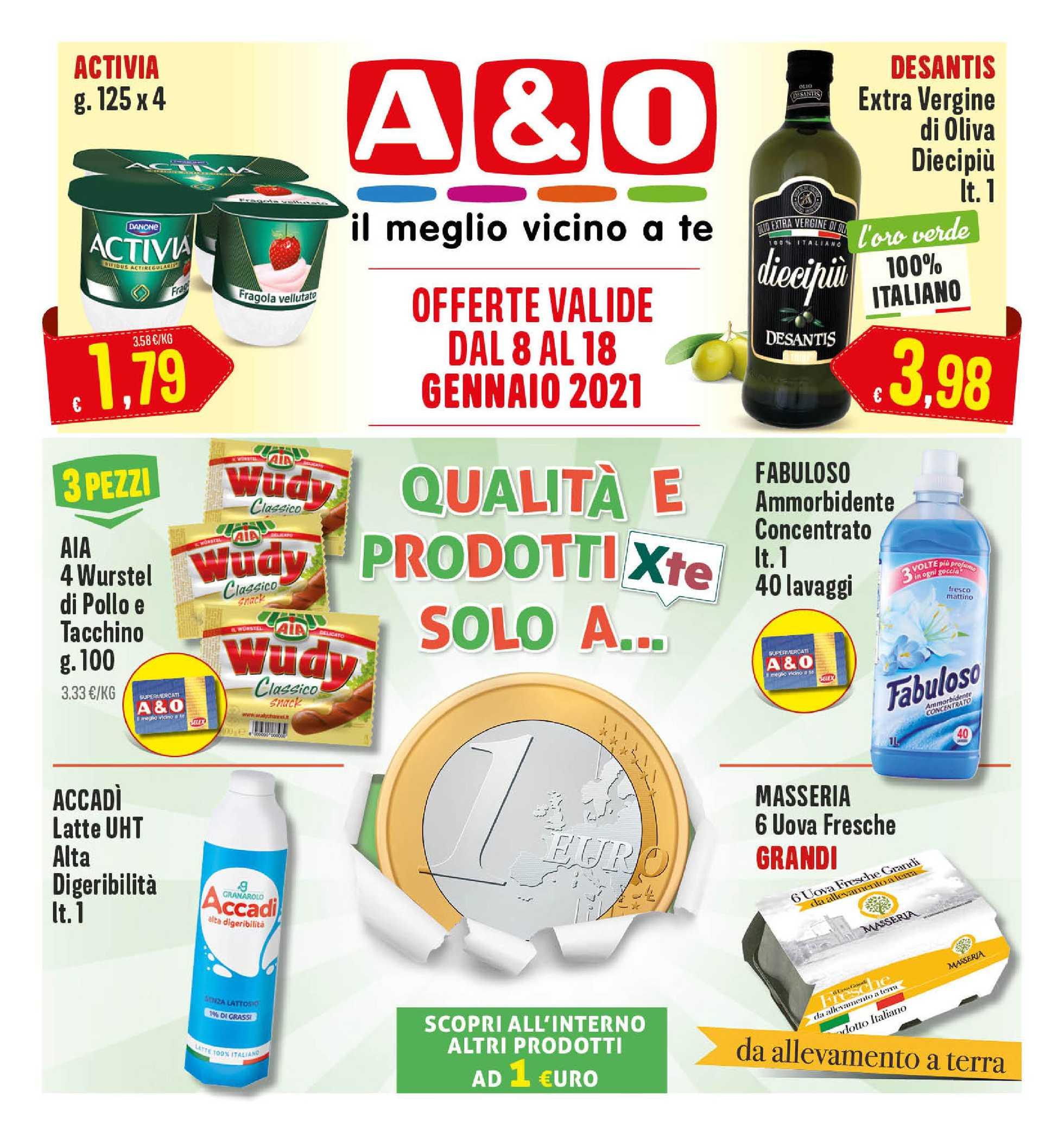 A&O - offerte valide dal 08.01.2021 al 18.01.2021 - pagina 1.