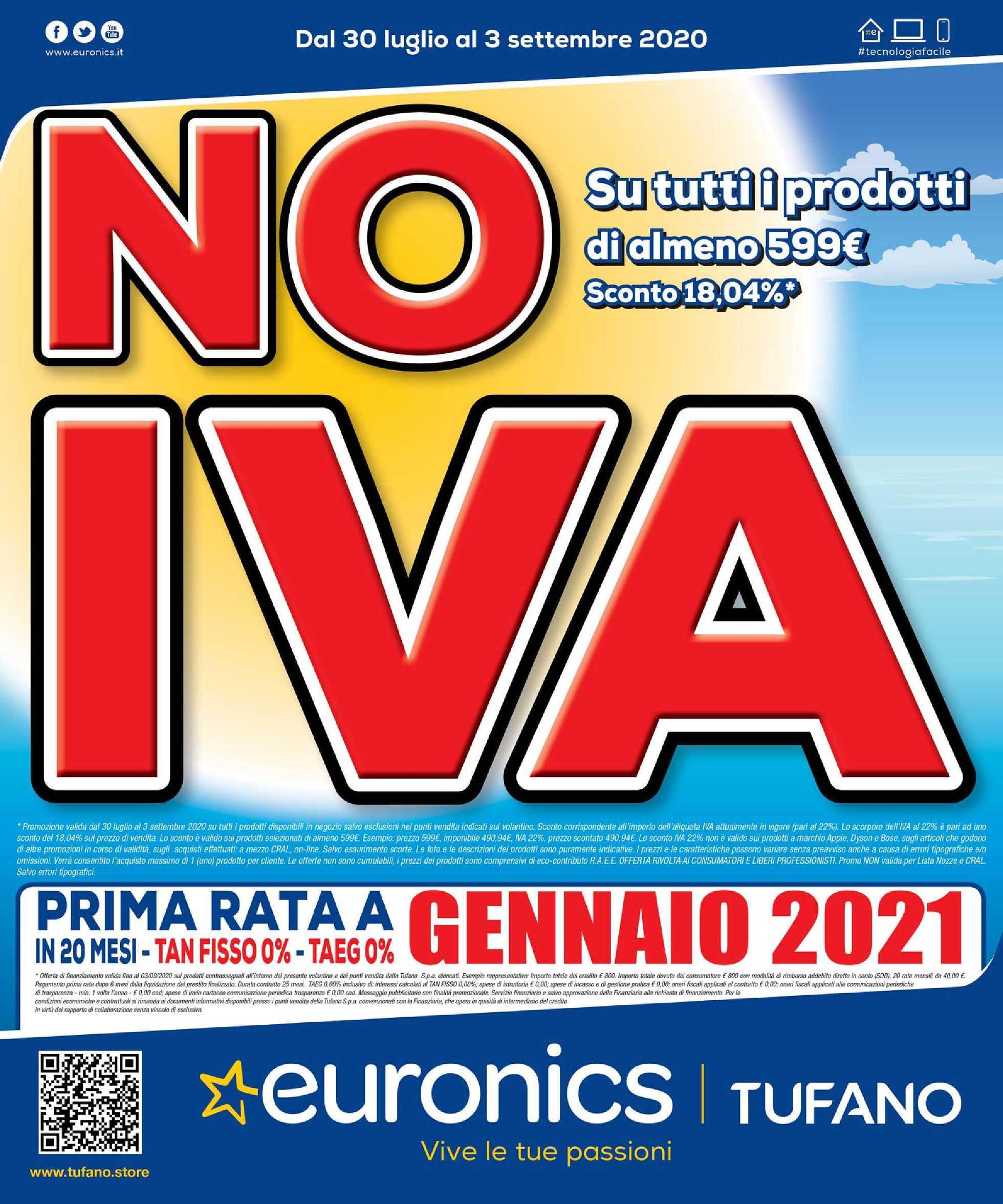 Euronics Bruno - offerte valide dal 30.07.2020 al 03.09.2020 - pagina 1.