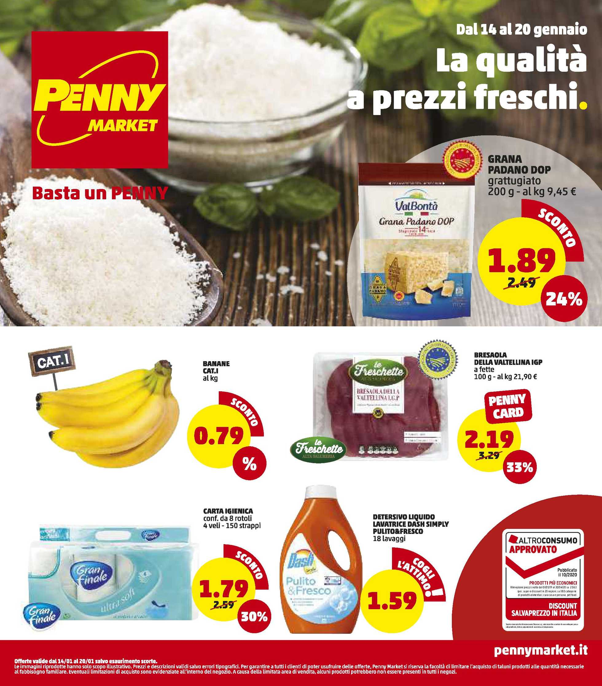 Penny Market - offerte valide dal 14.01.2021 al 20.01.2021 - pagina 1.