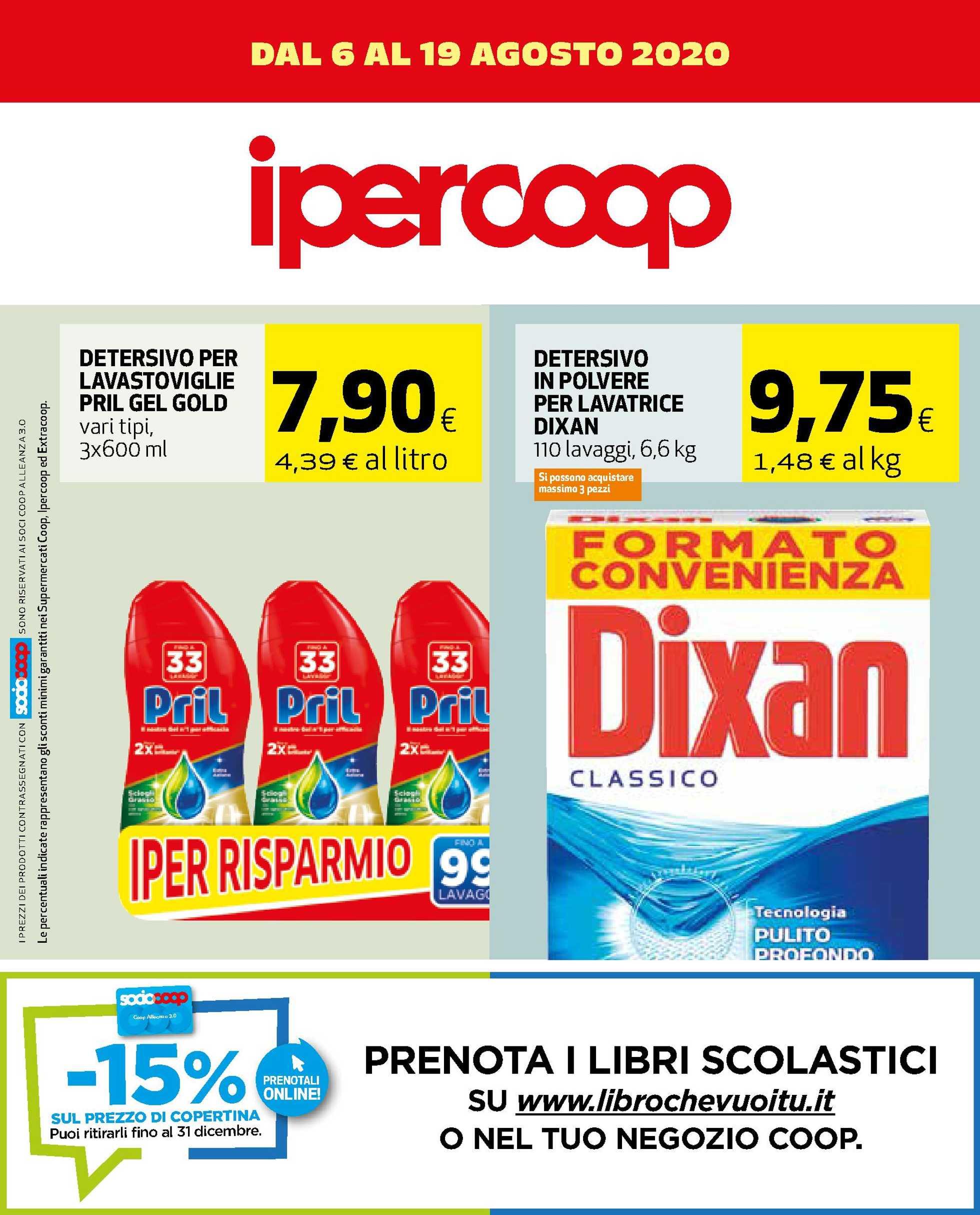 Ipercoop - offerte valide dal 06.08.2020 al 19.08.2020 - pagina 1.