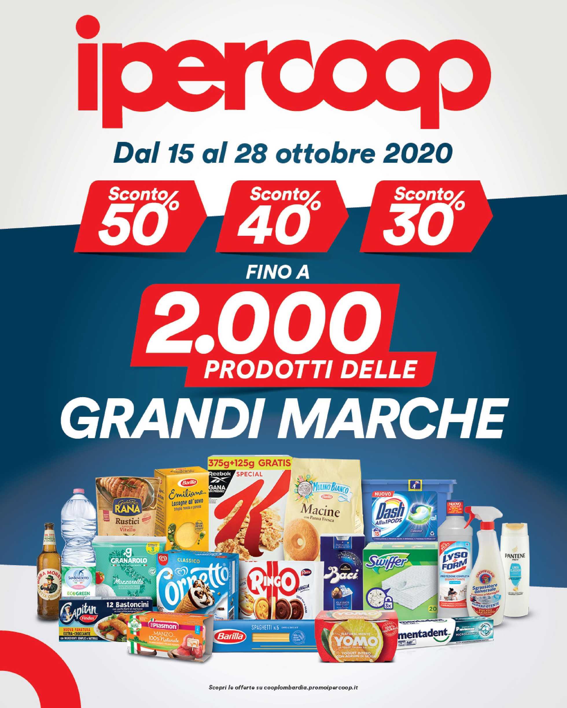 Ipercoop Lombardia - offerte valide dal 15.10.2020 al 28.10.2020 - pagina 1.