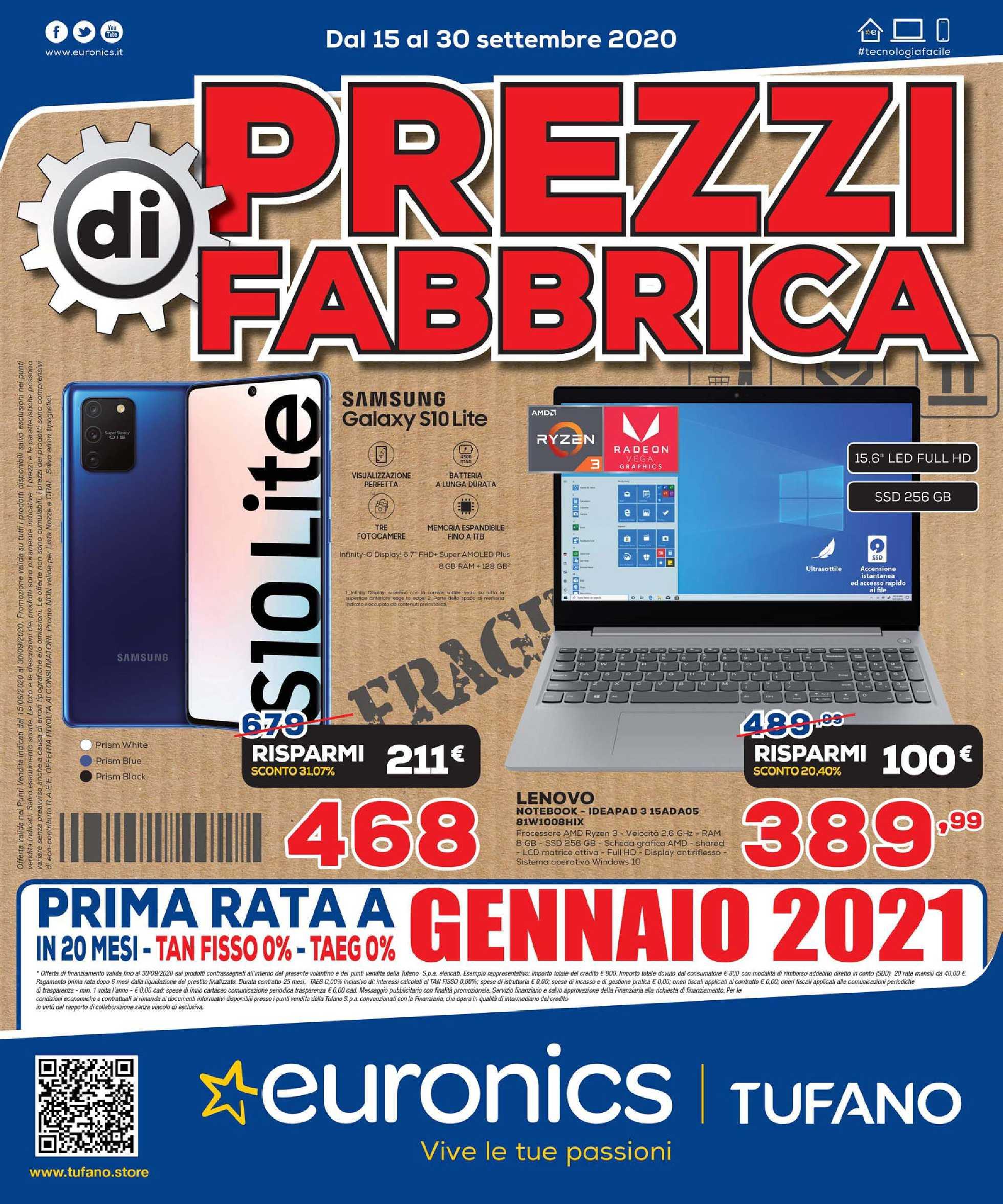Euronics Bruno - offerte valide dal 15.09.2020 al 30.09.2020 - pagina 1.