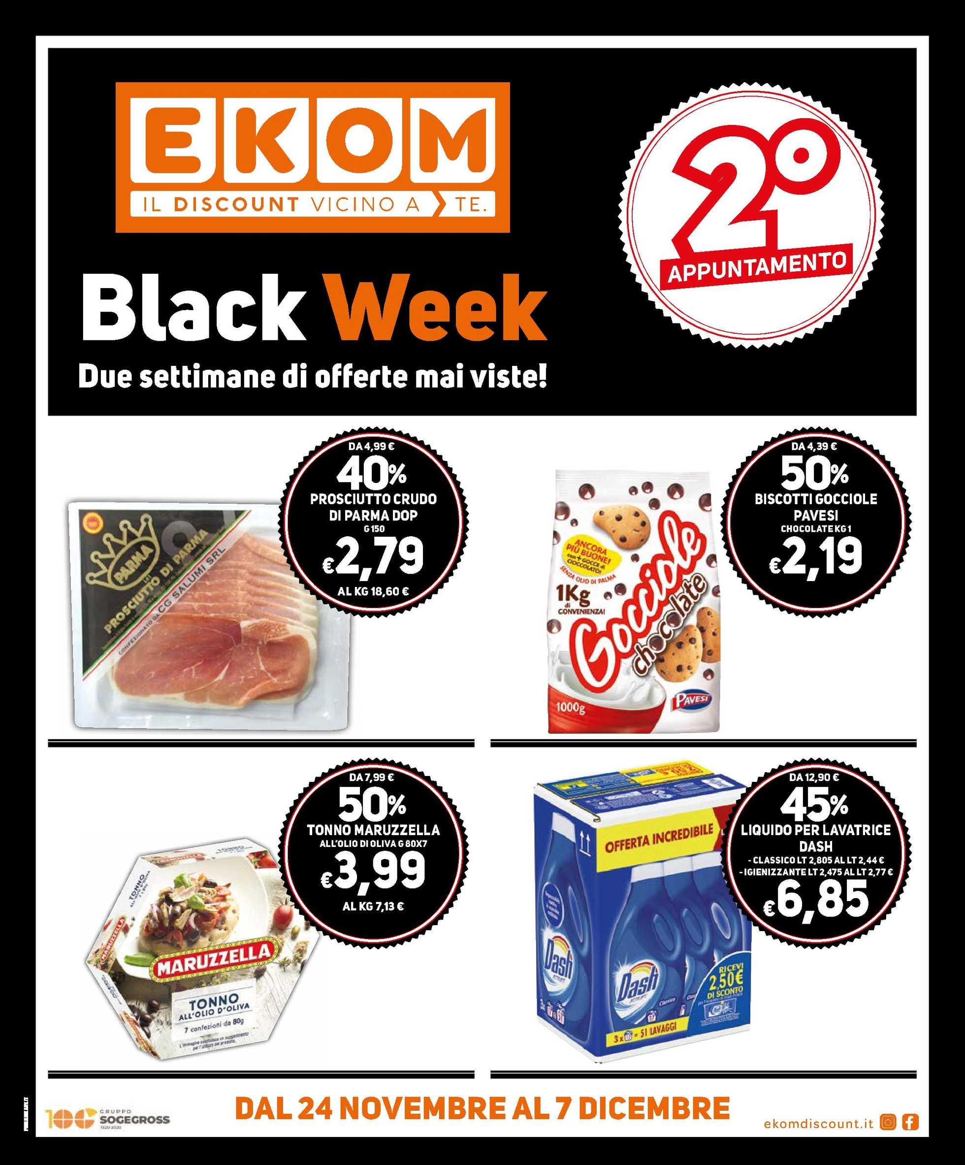 Ekom - offerte valide dal 24.11.2020 al 07.12.2020 - pagina 1.