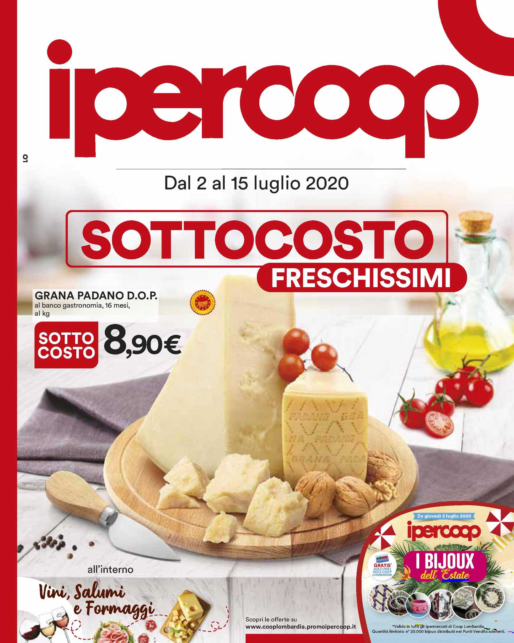 Ipercoop - offerte valide dal 02.07.2020 al 15.07.2020 - pagina 1.