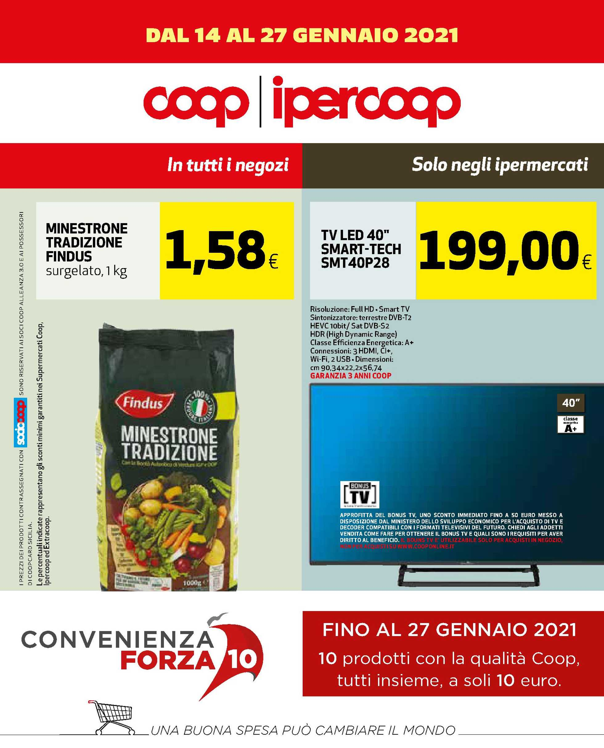 Ipercoop Sicilia - offerte valide dal 14.01.2021 al 27.01.2021 - pagina 1.