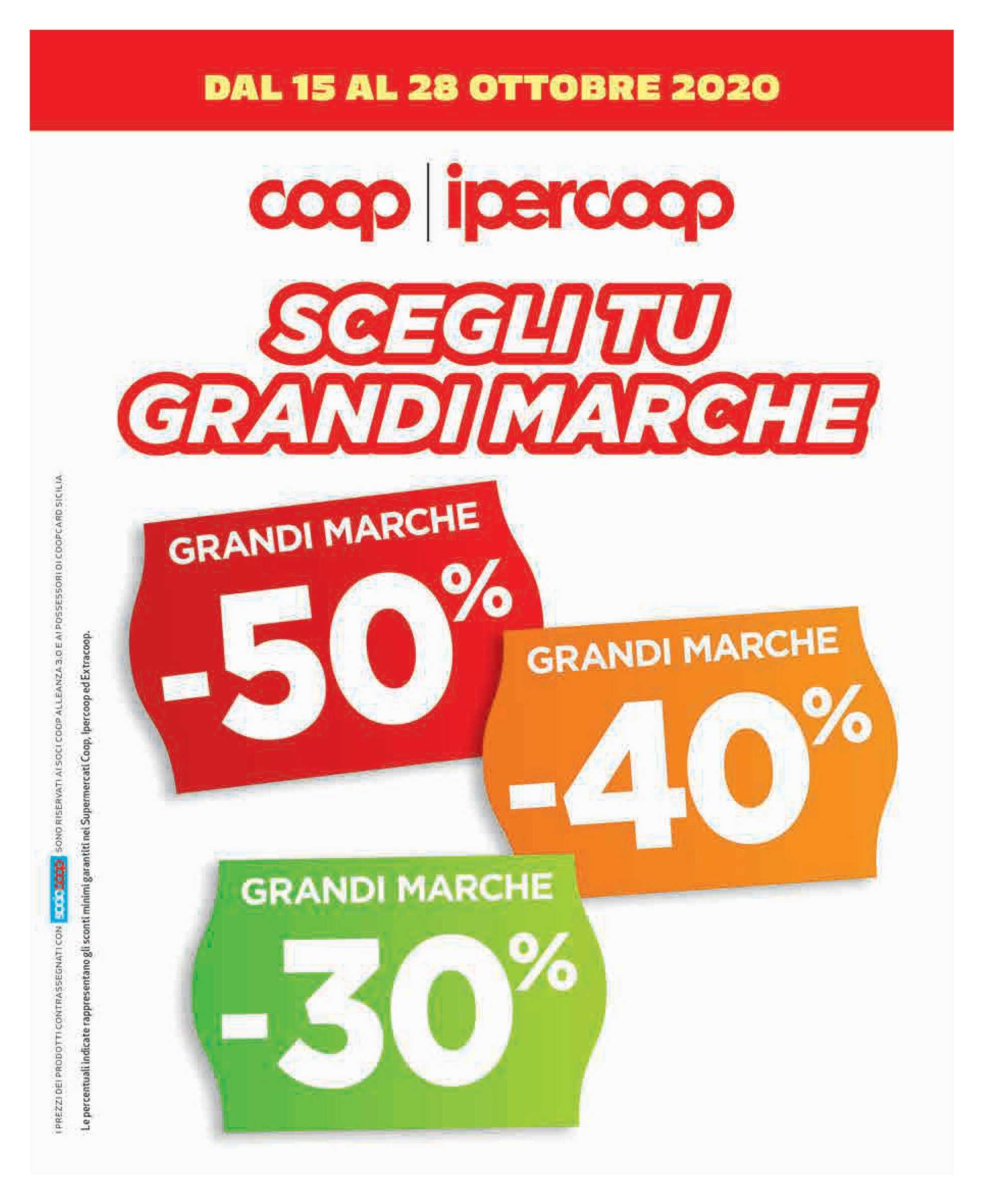 Ipercoop Sicilia - offerte valide dal 15.10.2020 al 28.10.2020 - pagina 1.