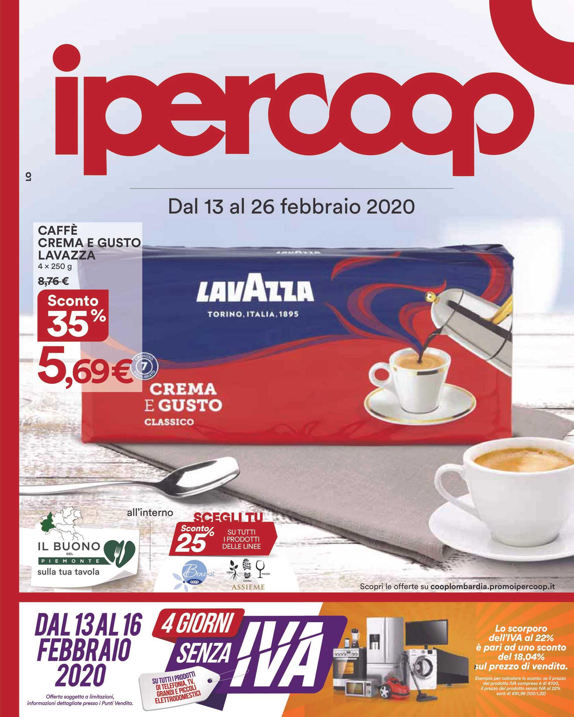 Ipercoop (Coop Alleanza) - offerte valide dal 13.02.2020 al 26.02.2020 - pagina 1.