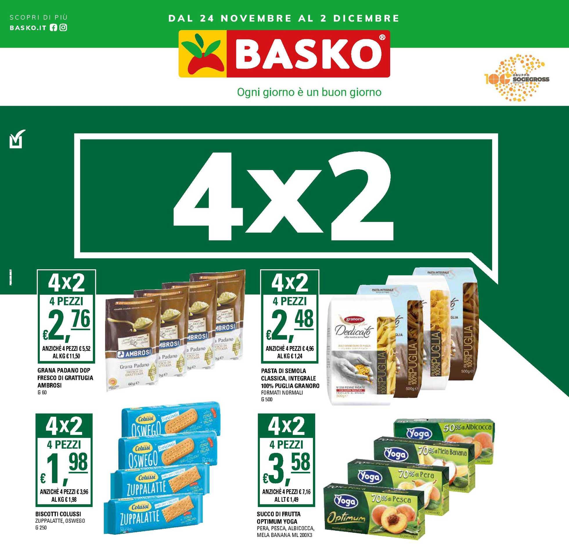 Basko - offerte valide dal 24.11.2020 al 02.12.2020 - pagina 1.