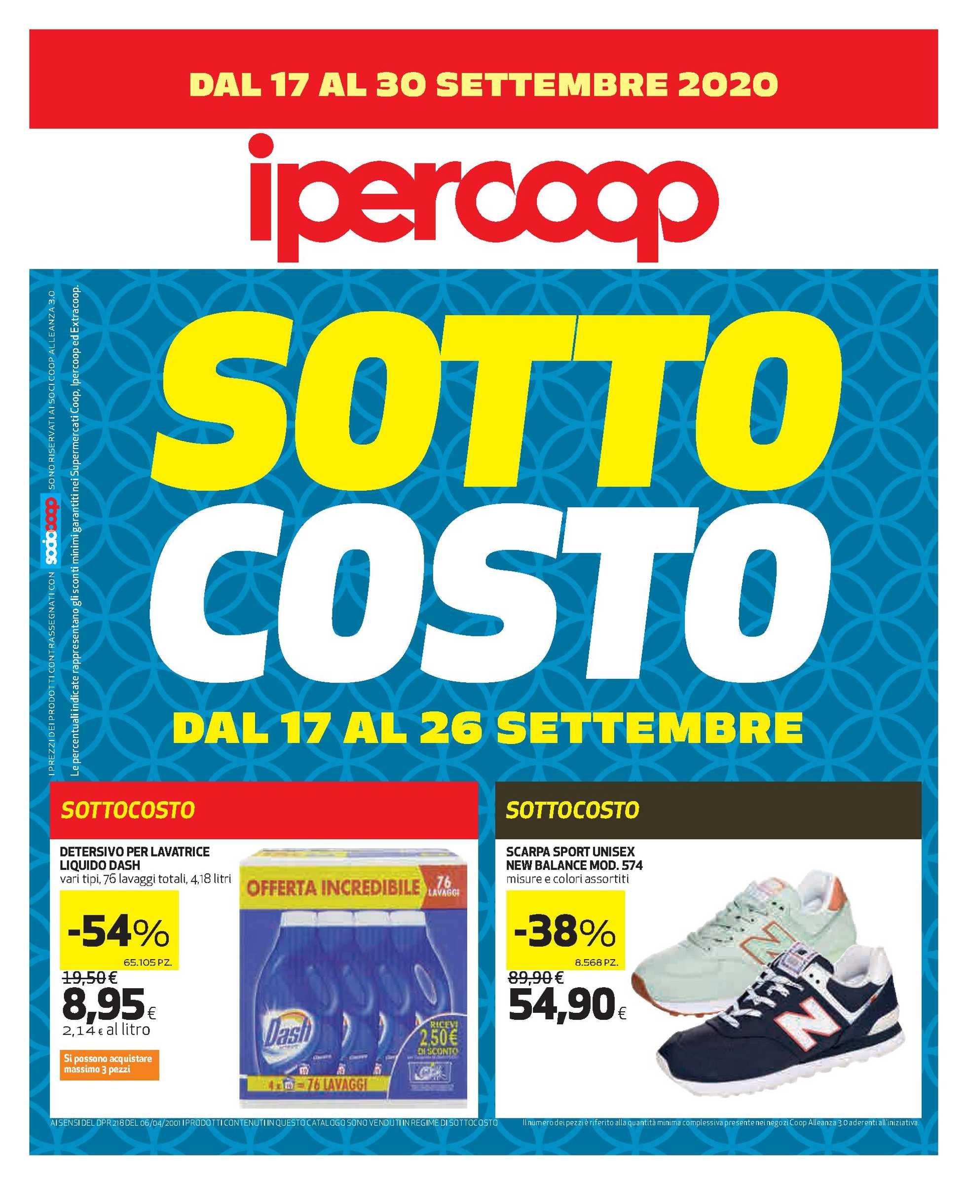 Ipercoop - offerte valide dal 17.09.2020 al 30.09.2020 - pagina 1.