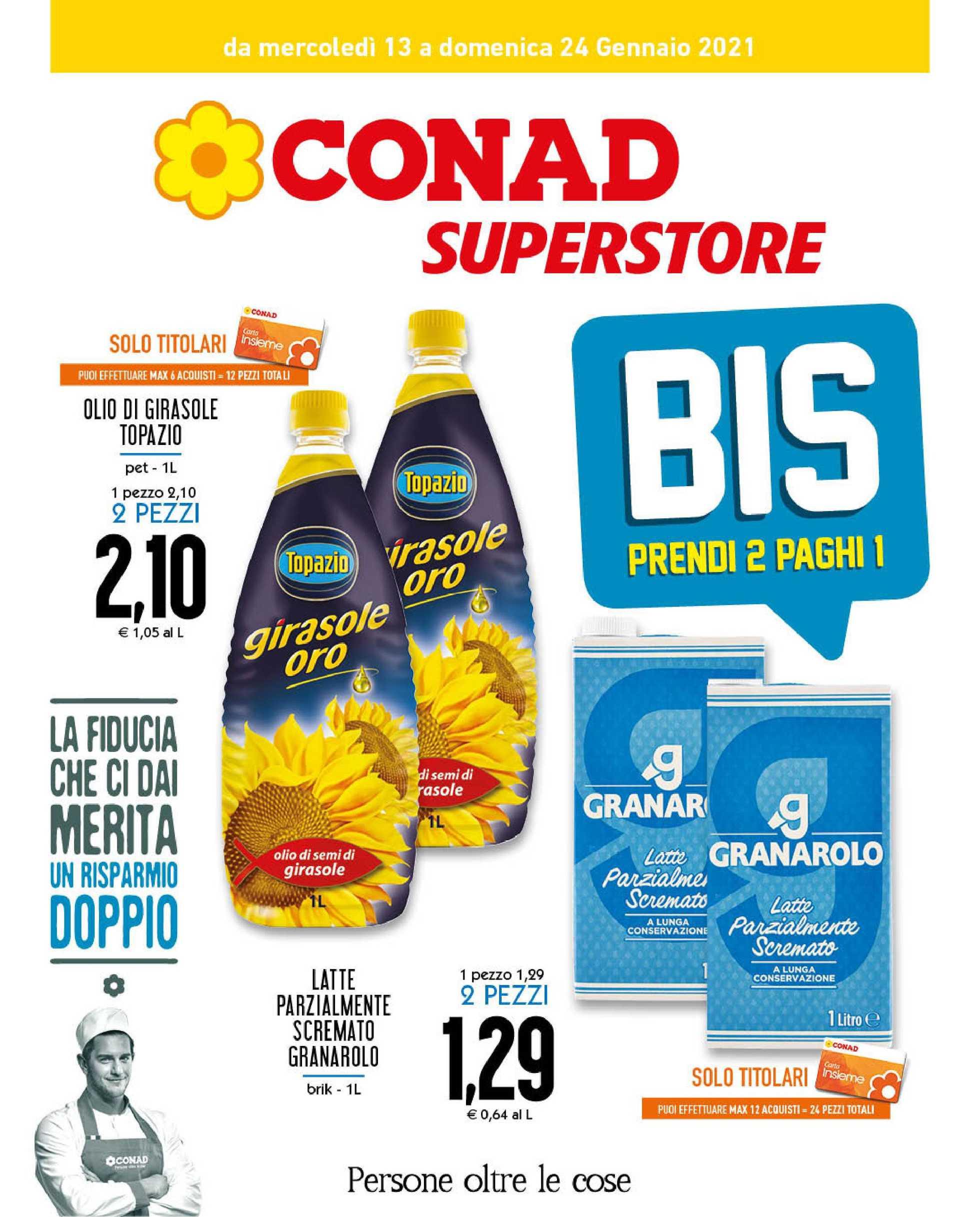 Conad Superstore - offerte valide dal 13.01.2021 al 24.01.2021 - pagina 1.