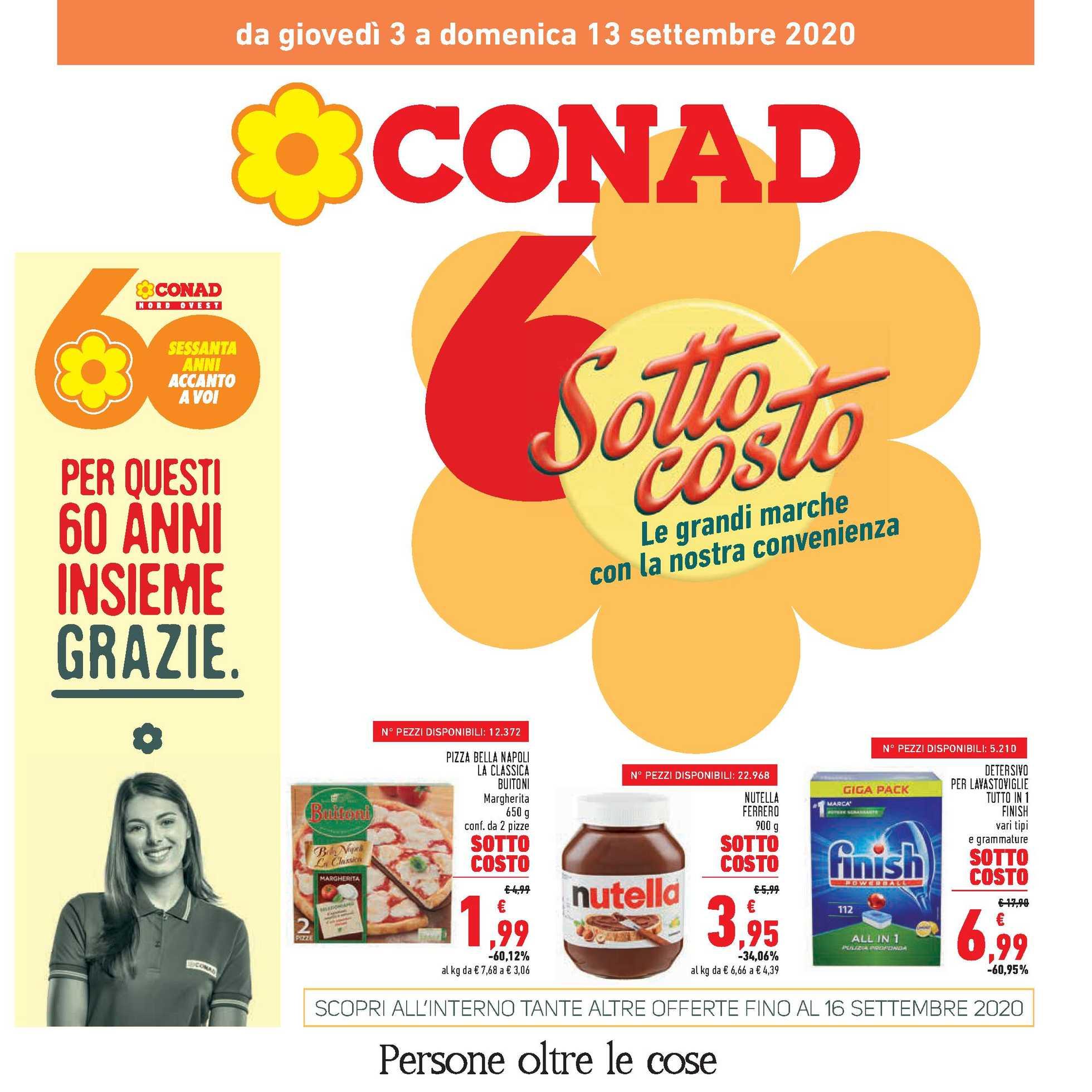 Conad - offerte valide dal 03.09.2020 al 16.09.2020 - pagina 1.