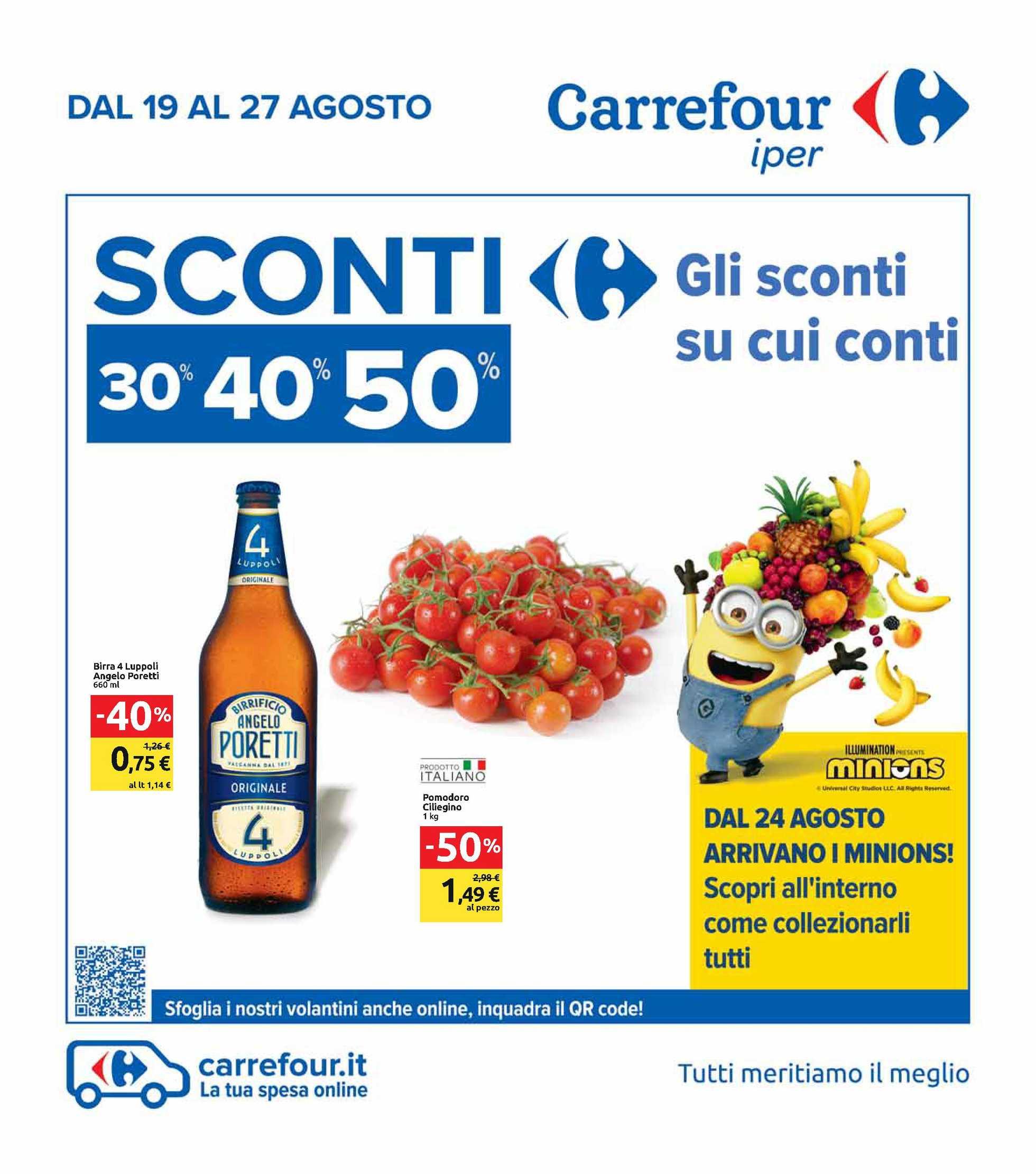 Carrefour Iper - offerte valide dal 19.08.2020 al 27.08.2020 - pagina 1.