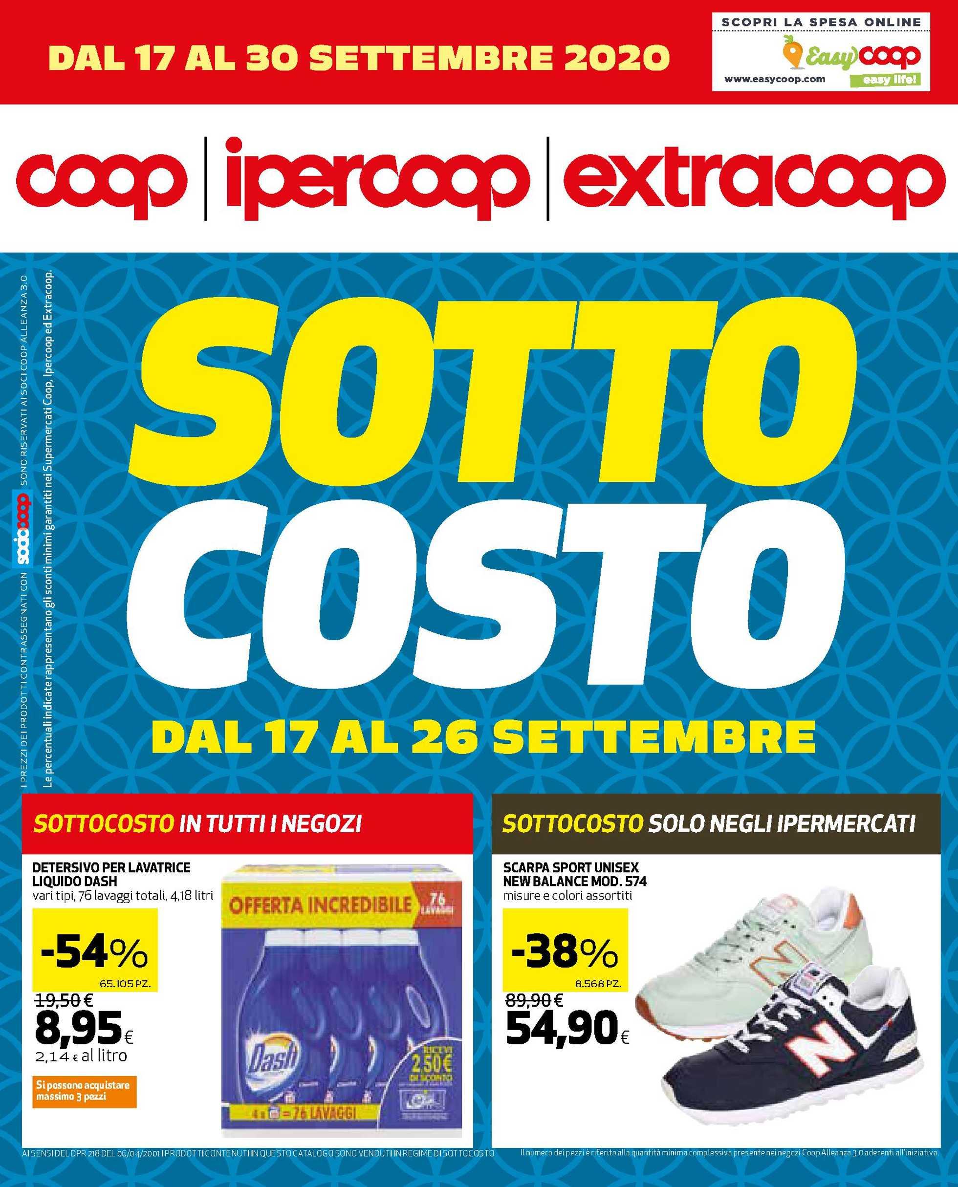 Coop Alleanza 3.0 - offerte valide dal 17.09.2020 al 30.09.2020 - pagina 1.