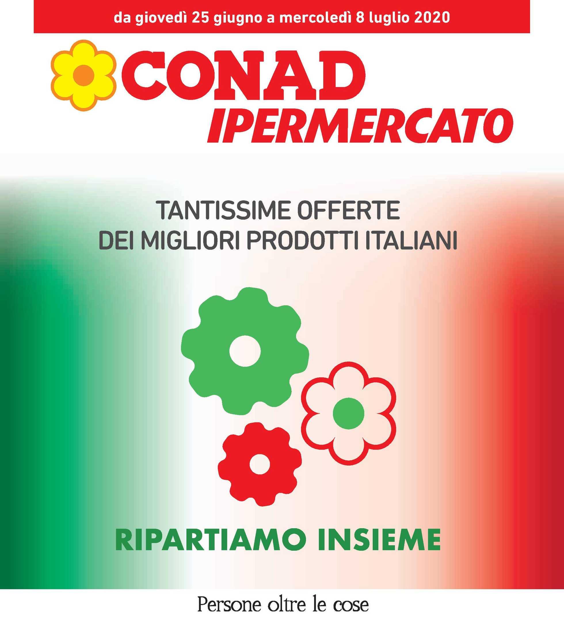 Conad Ipermercato - offerte valide dal 25.06.2020 al 08.07.2020 - pagina 1.