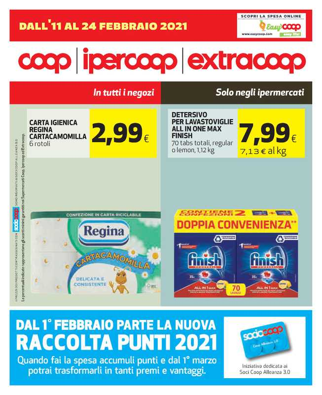 Ipercoop (Coop Alleanza) - offerte valide dal 11.02.2021 al 24.02.2021 - pagina 1.