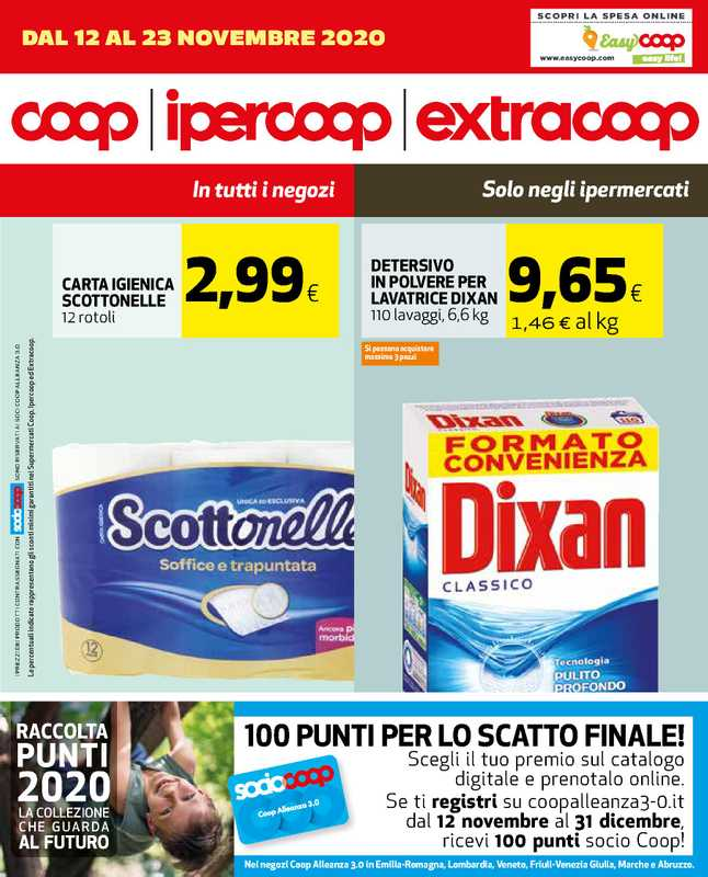 Ipercoop (Coop Alleanza) - offerte valide dal 12.11.2020 al 24.11.2020 - pagina 1.