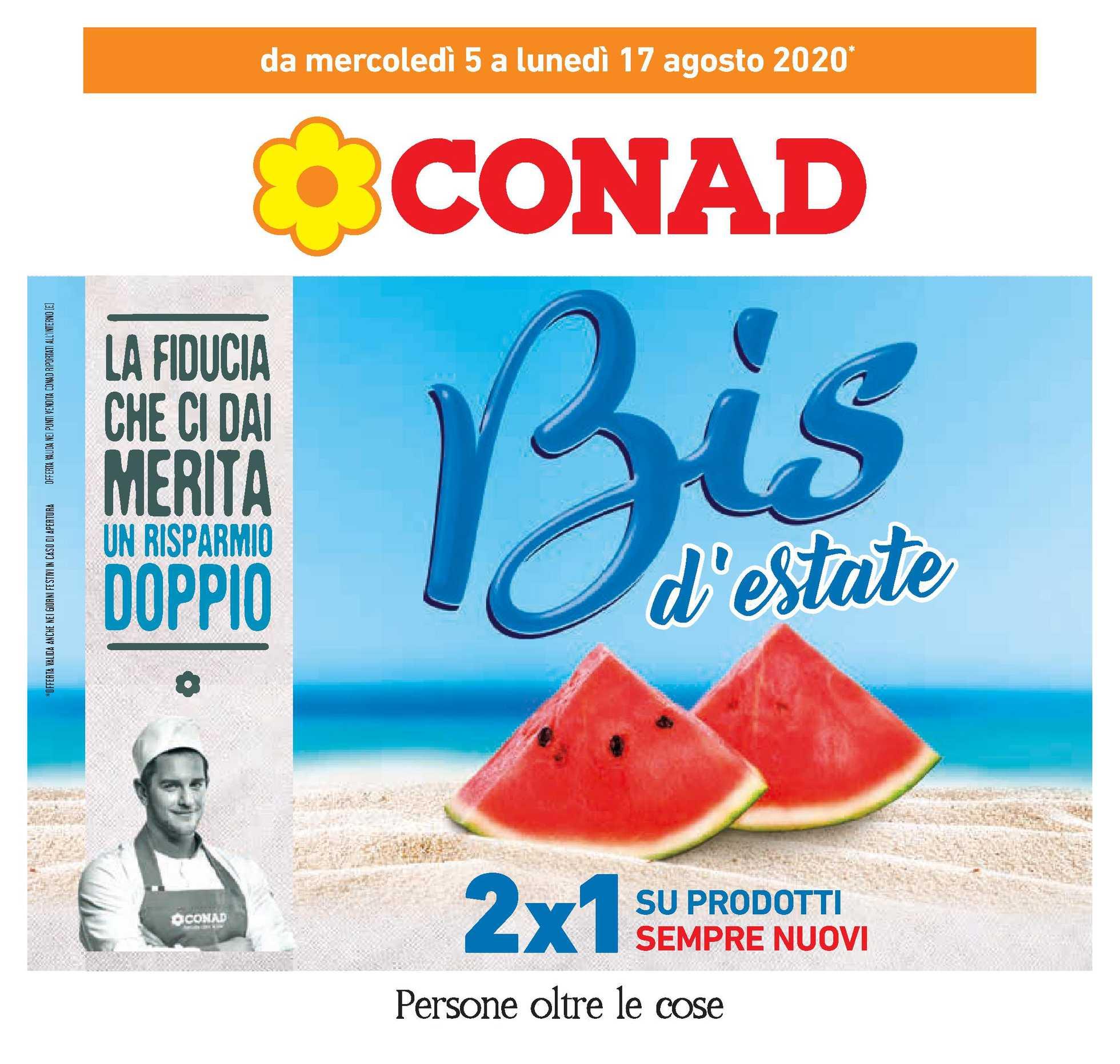 Conad - offerte valide dal 05.08.2020 al 17.08.2020 - pagina 1.