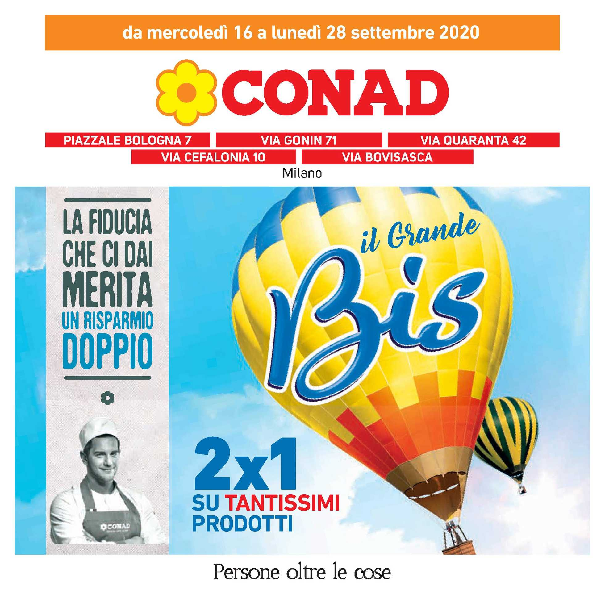 Conad - offerte valide dal 16.09.2020 al 28.09.2020 - pagina 1.