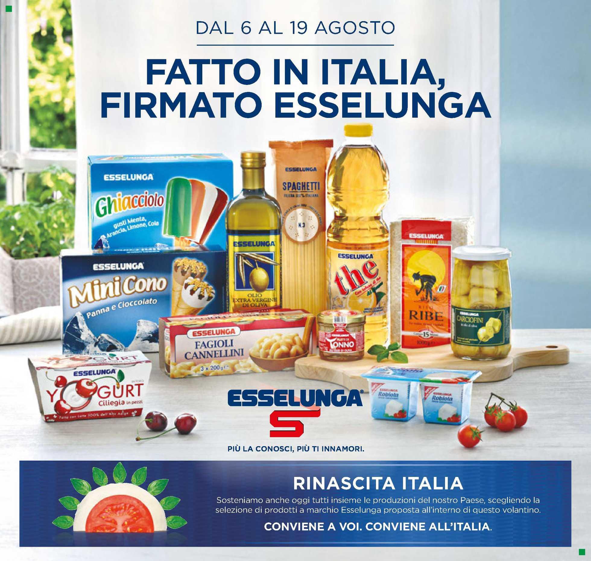 Esselunga - offerte valide dal 06.08.2020 al 19.08.2020 - pagina 1.