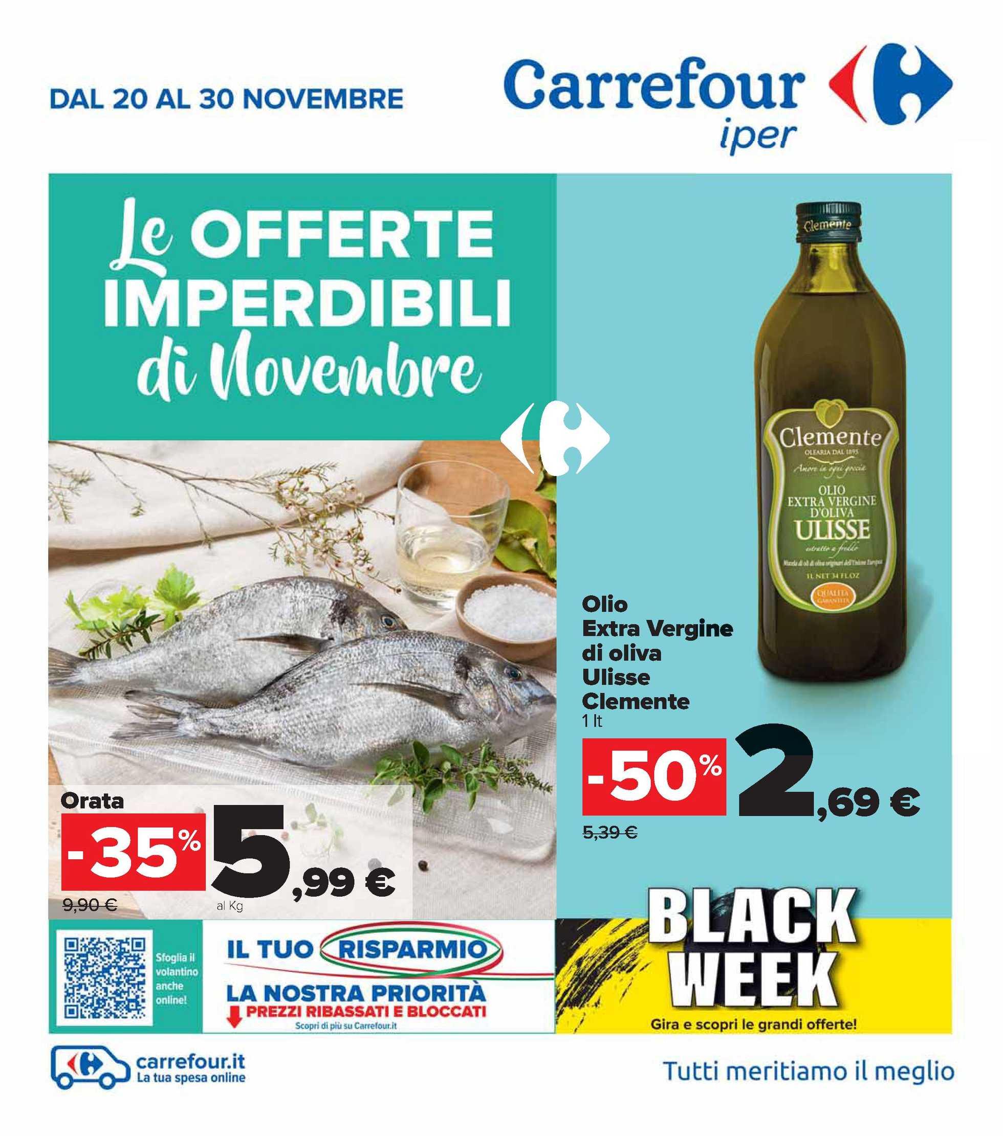 Carrefour Iper - offerte valide dal 20.11.2020 al 30.11.2020 - pagina 1.