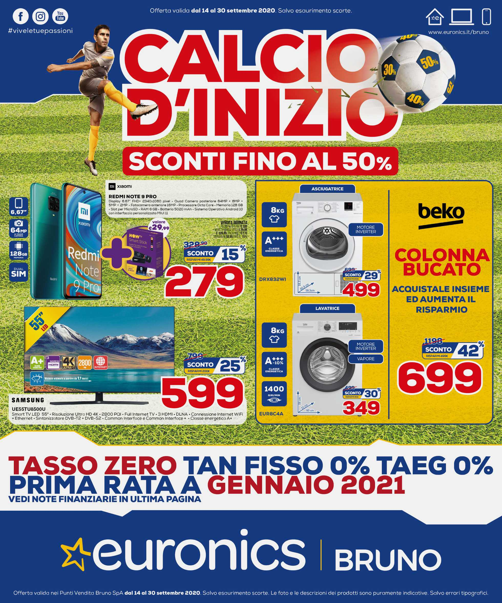 Euronics Bruno - offerte valide dal 14.09.2020 al 30.09.2020 - pagina 1.